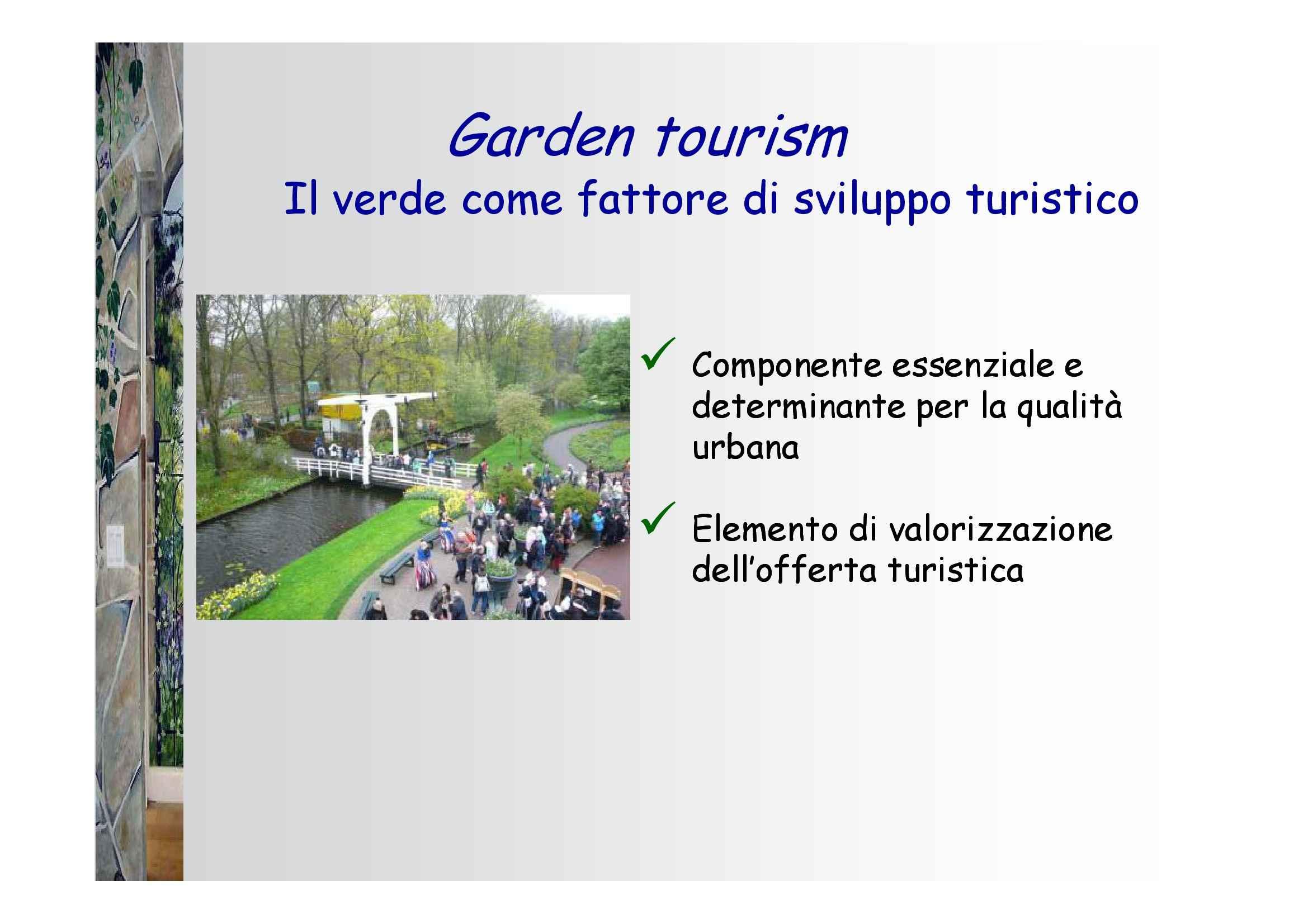 Dispensa di Piante e verde urbano, Piante e turismo