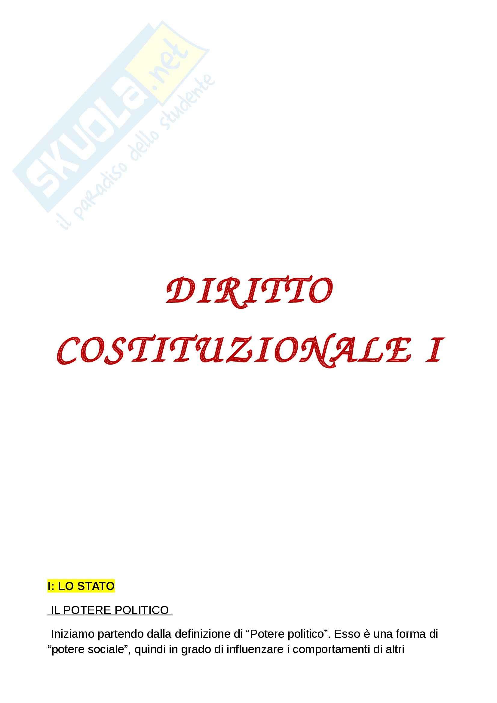 Riassunto esame diritto costituzionale, prof. Grosso, libro Diritto costituzionale, Bin, Pitruzzella