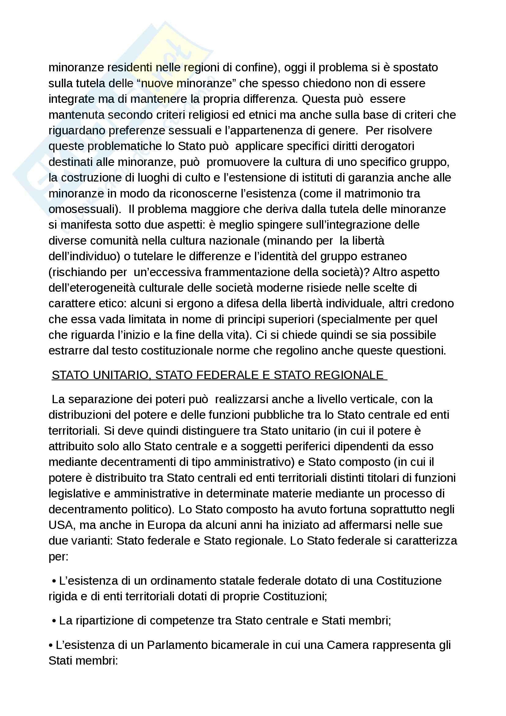 Riassunto esame diritto costituzionale, prof. Grosso, libro Diritto costituzionale, Bin, Pitruzzella Pag. 21