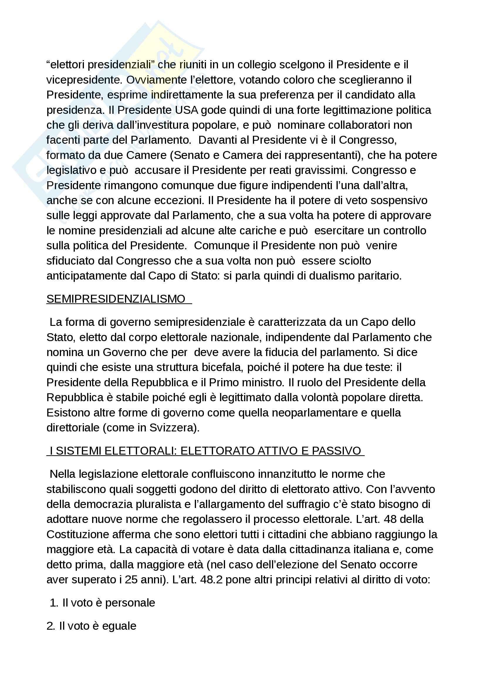 Riassunto esame diritto costituzionale, prof. Grosso, libro Diritto costituzionale, Bin, Pitruzzella Pag. 31