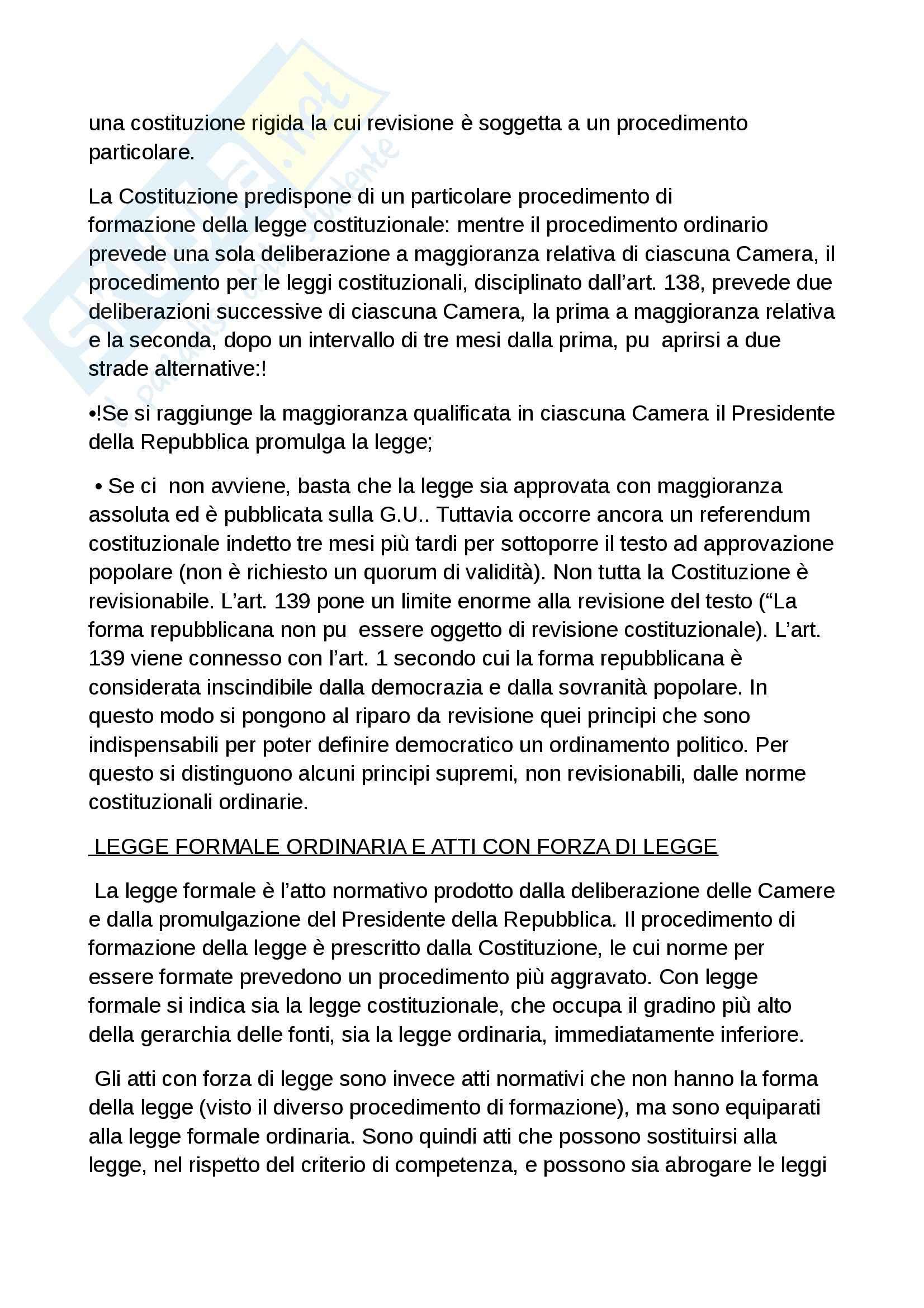 Riassunto esame diritto costituzionale, prof. Grosso, libro Diritto costituzionale, Bin, Pitruzzella Pag. 61
