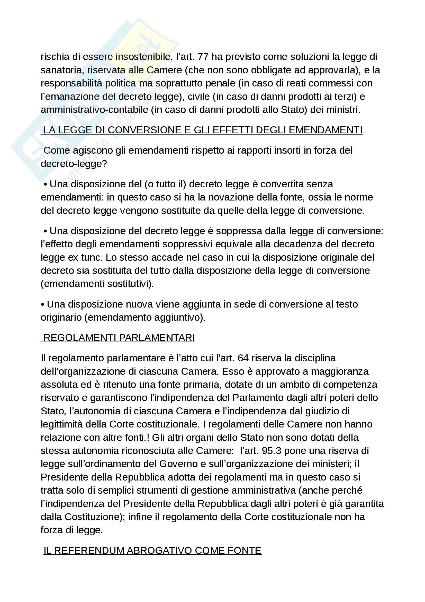 Riassunto esame diritto costituzionale, prof. Grosso, libro Diritto costituzionale, Bin, Pitruzzella Pag. 66