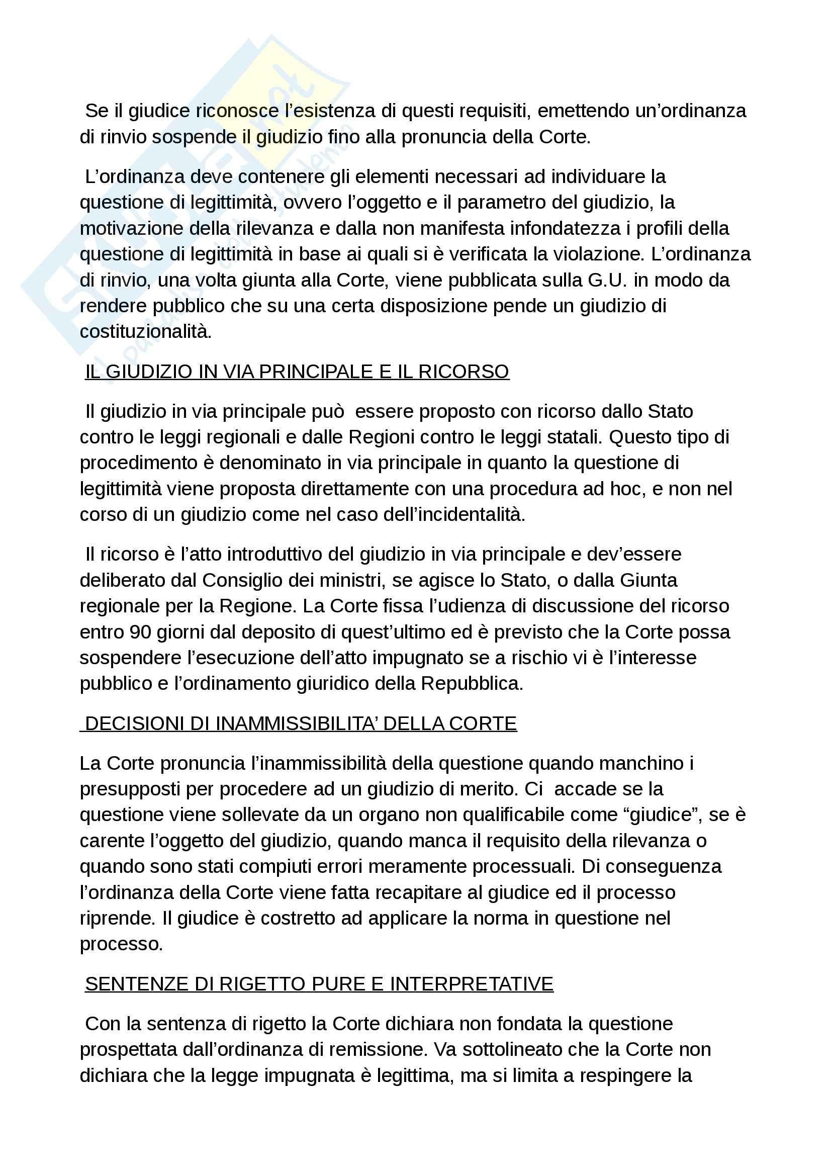Riassunto esame diritto costituzionale, prof. Grosso, libro Diritto costituzionale, Bin, Pitruzzella Pag. 76