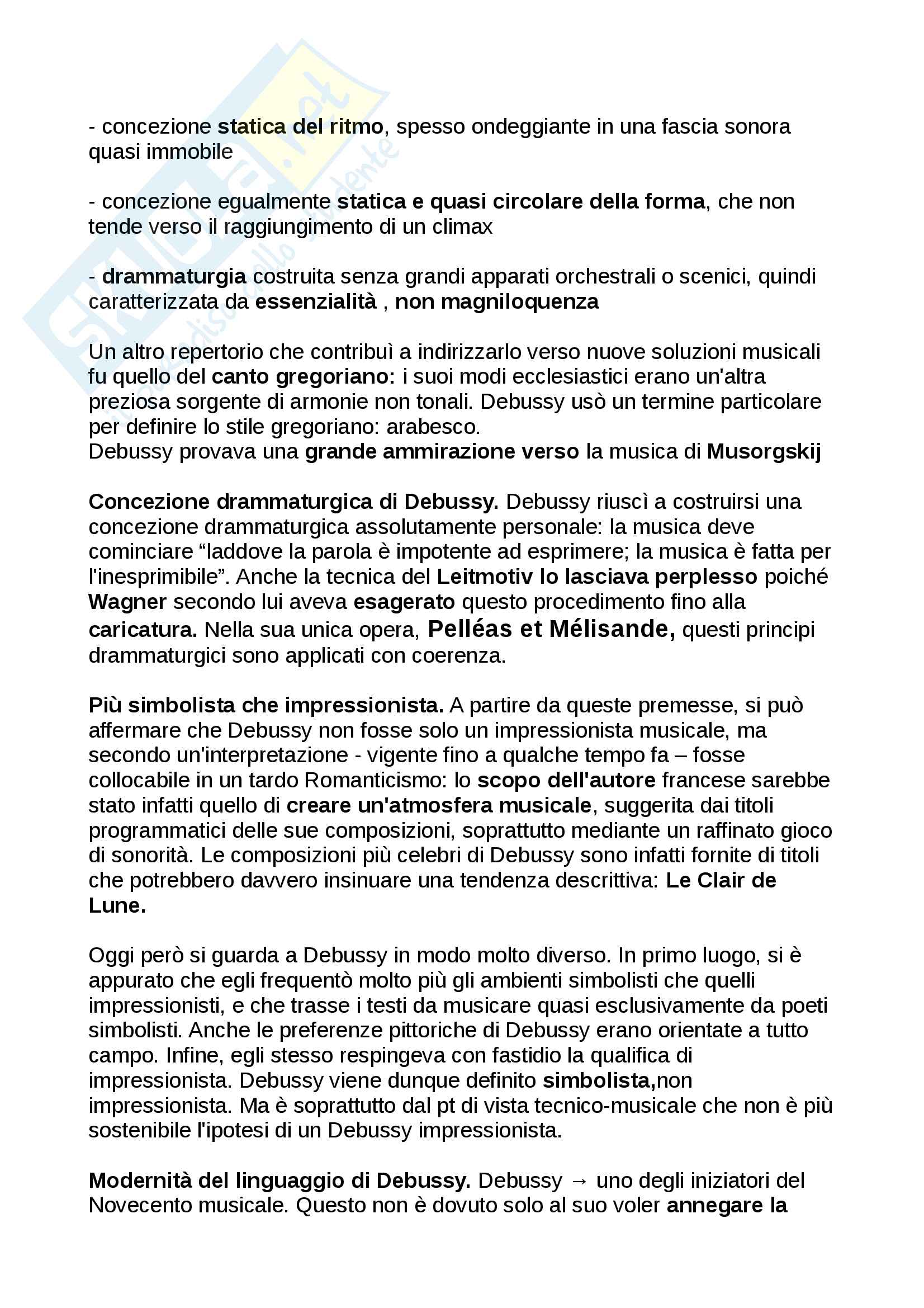 Riassunto Storia della musica moderna e contemporanea, libro consigliato: Manuale Carrozzo, Cimagalli - il 1900 Pag. 2