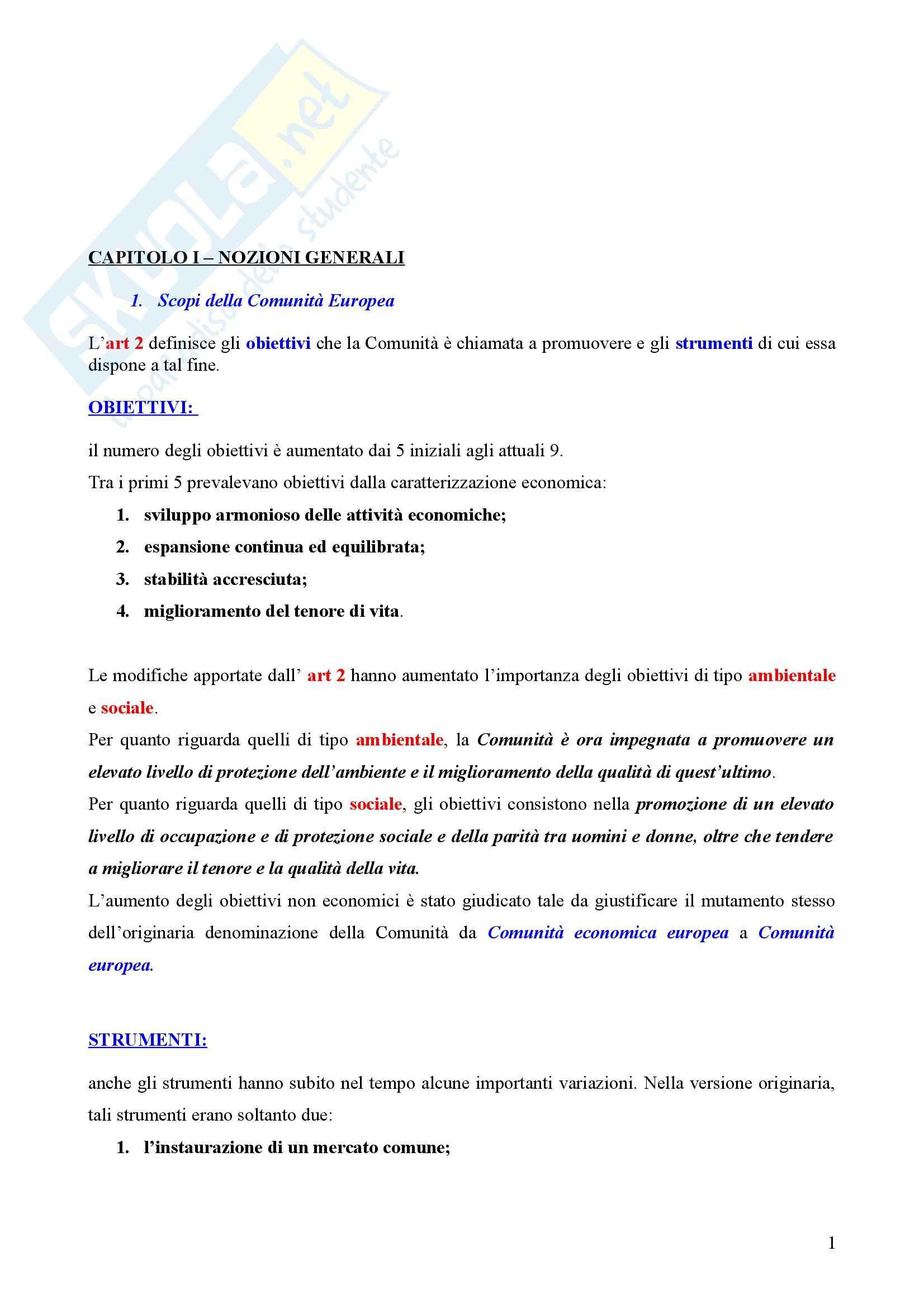 Riassunto esame Diritto del mercato unico, prof. Cafari, libro consigliato Diritto del mercato unico europeo, Daniele