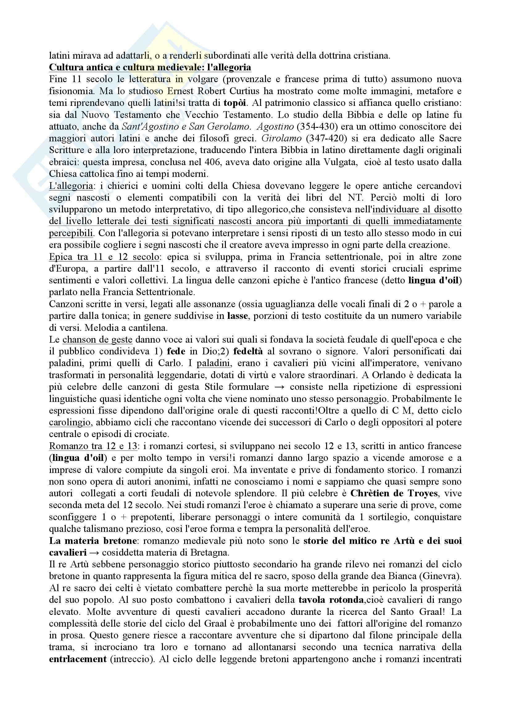 Riassunto esame Letteratura Italiana I, prof. Di Staso, libro consigliato I tre libri di letteratura Origini_Seicento, Santagata, Carotti, Casadei, Tavoni Pag. 2