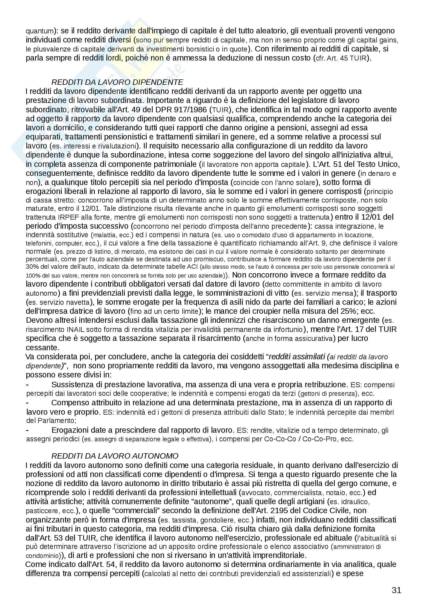 Riassunto esame Diritto Tributario, prof. Logozzo, libro consigliato Principi di diritto tributario, De Mita Pag. 31