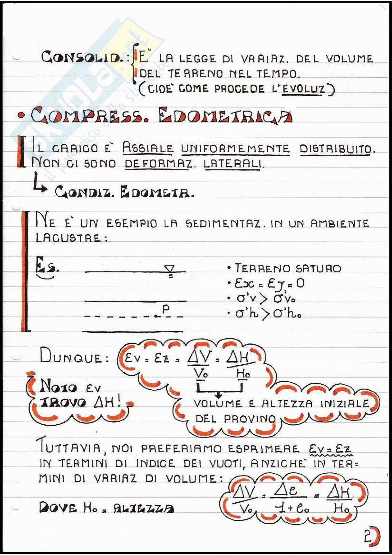 Geotecnica - Compressibilità e consolidazione edometrica Pag. 2