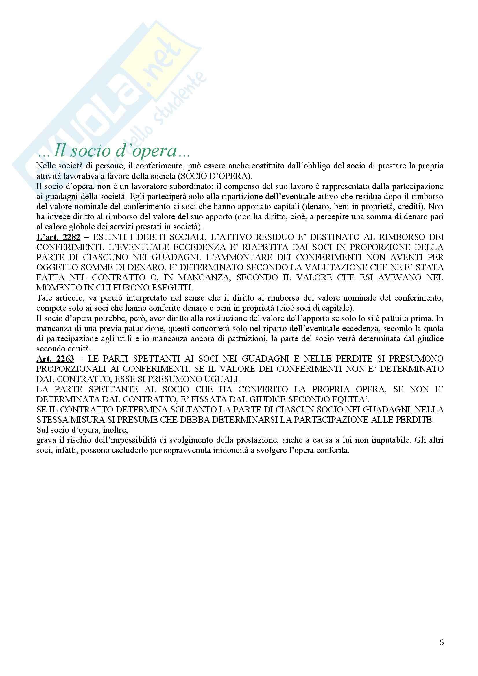 Diritto commerciale - la società semplice e la società in nome collettivo Pag. 6