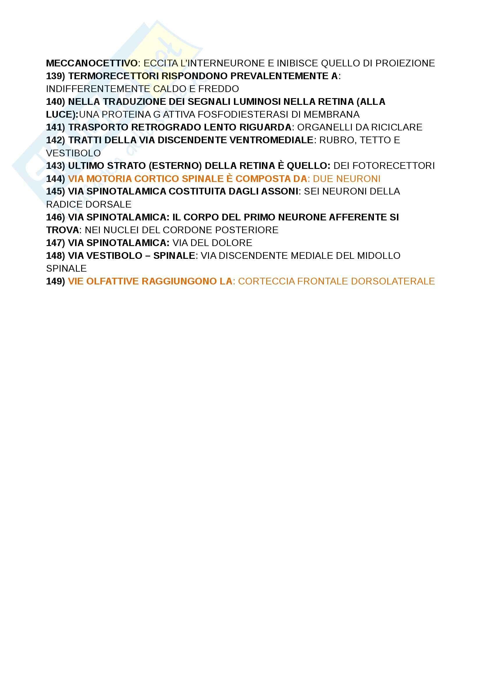 Domande crocette, Paulesu, fondamenti anatomo fisiologici dell'attività psichica Pag. 6