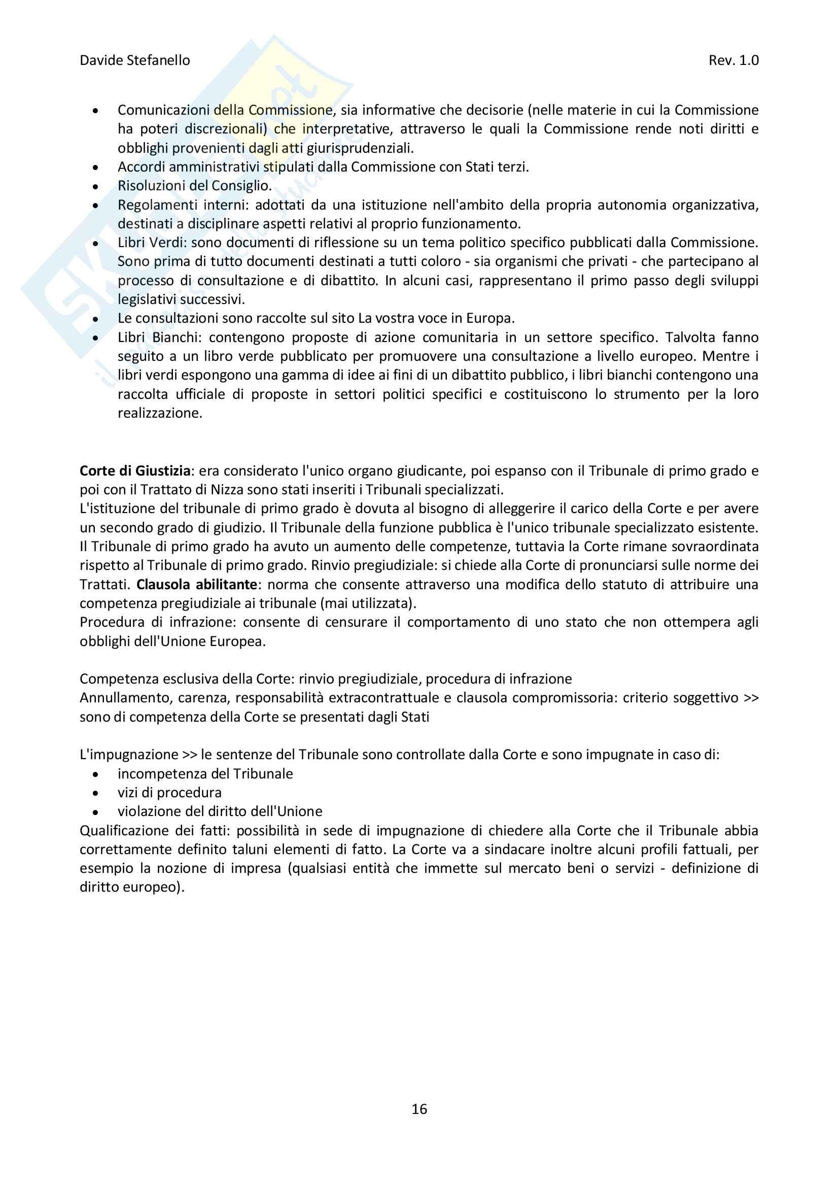 Appunti Diritto dell'Unione Europea Pag. 16