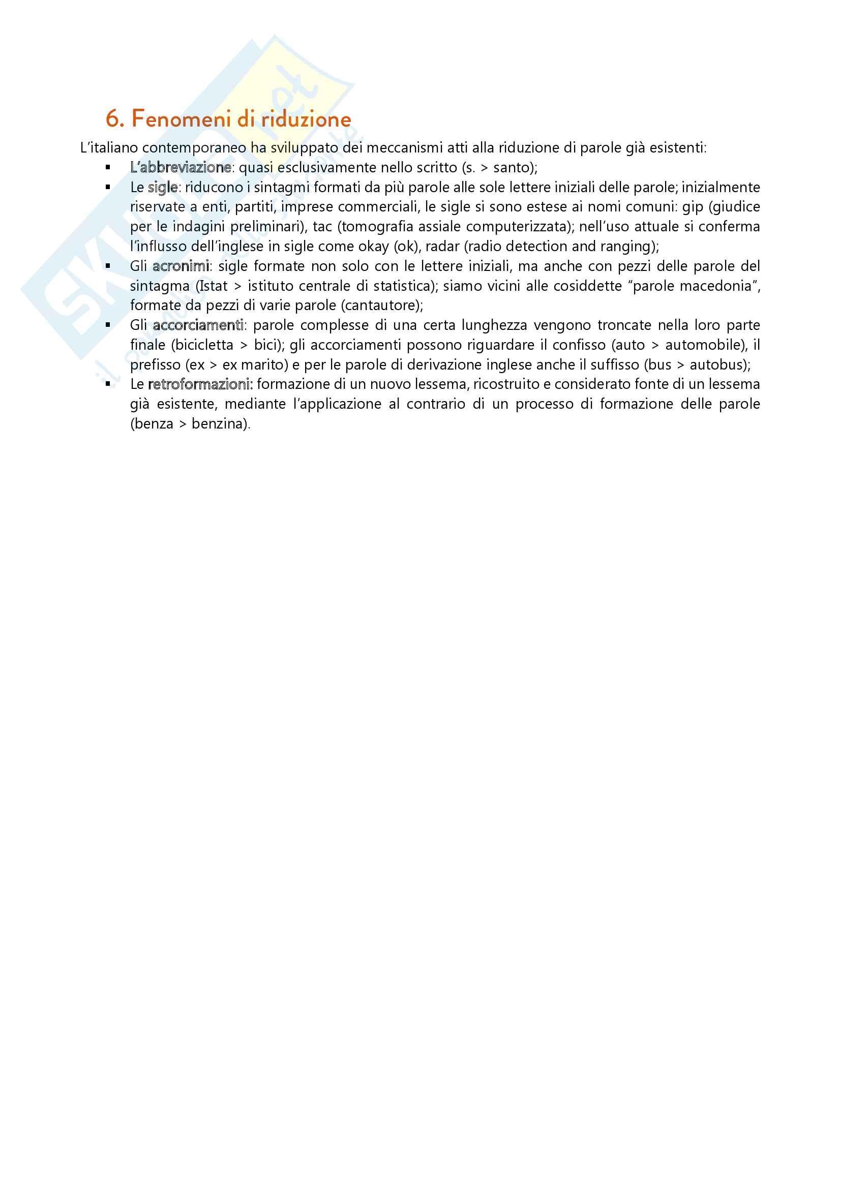 Riassunto esame Lingua e Letteratura Italiana, prof. Troiano, libro consigliato L'Italiano Contemporaneo, D'Achille Pag. 26