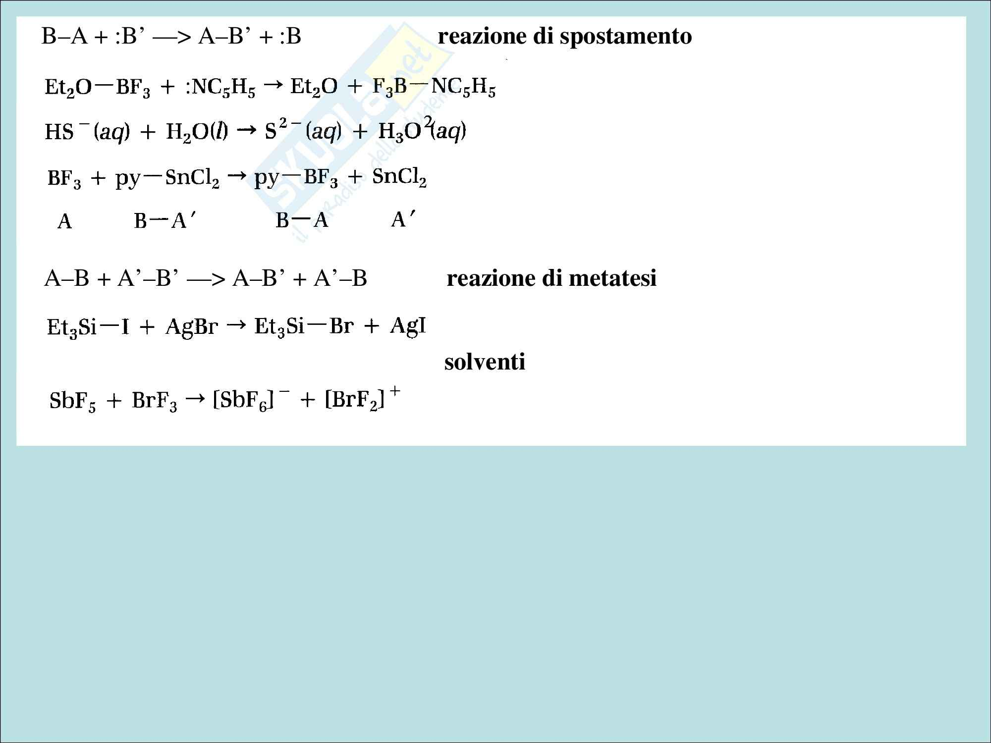 Chimica inorganica - gli acidi e le basi di lewis Pag. 2