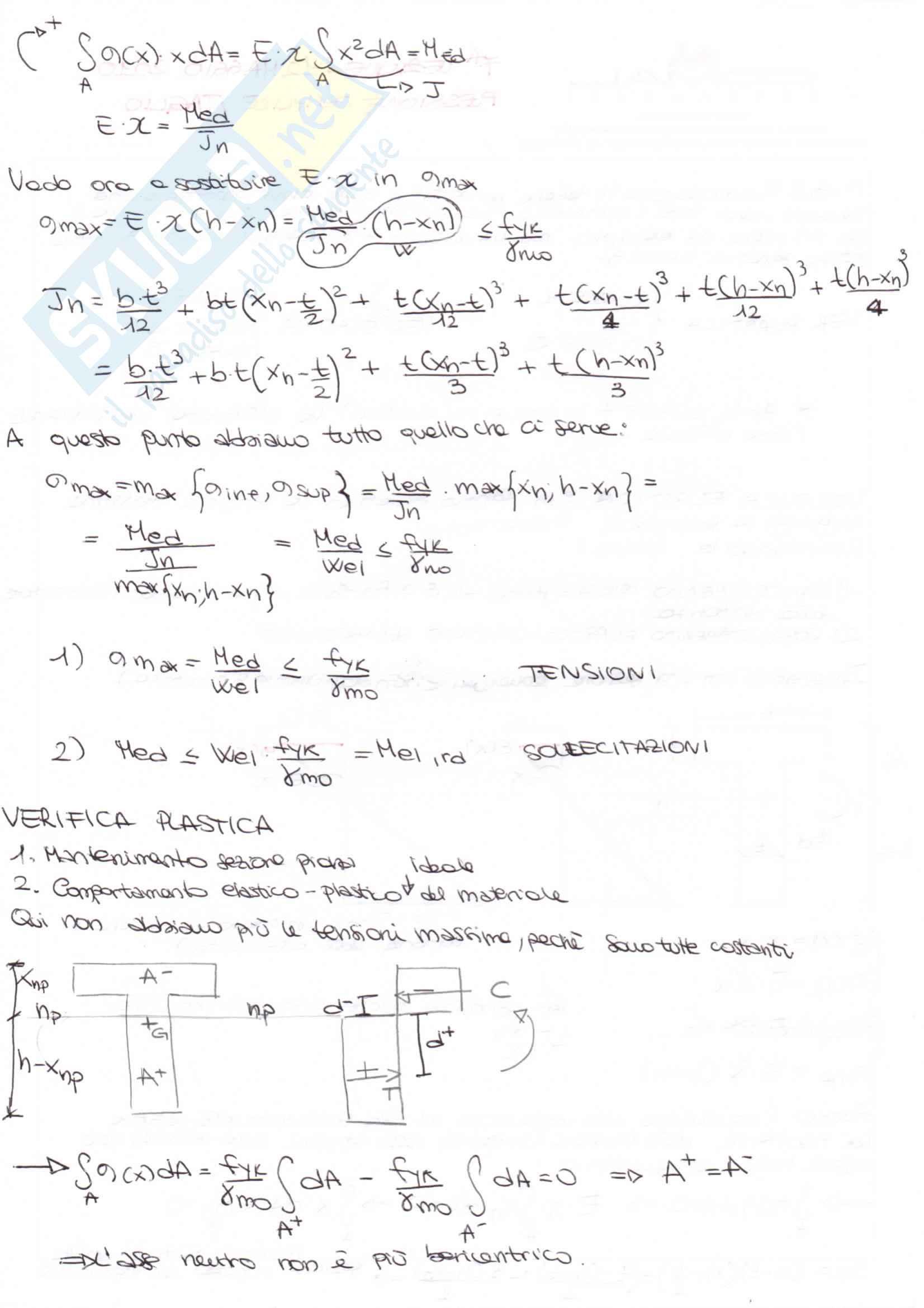 Tecnica delle costruzioni, Strutture in Acciaio Metodo T.A e Semiprobabilistico agli stati limite Pag. 21