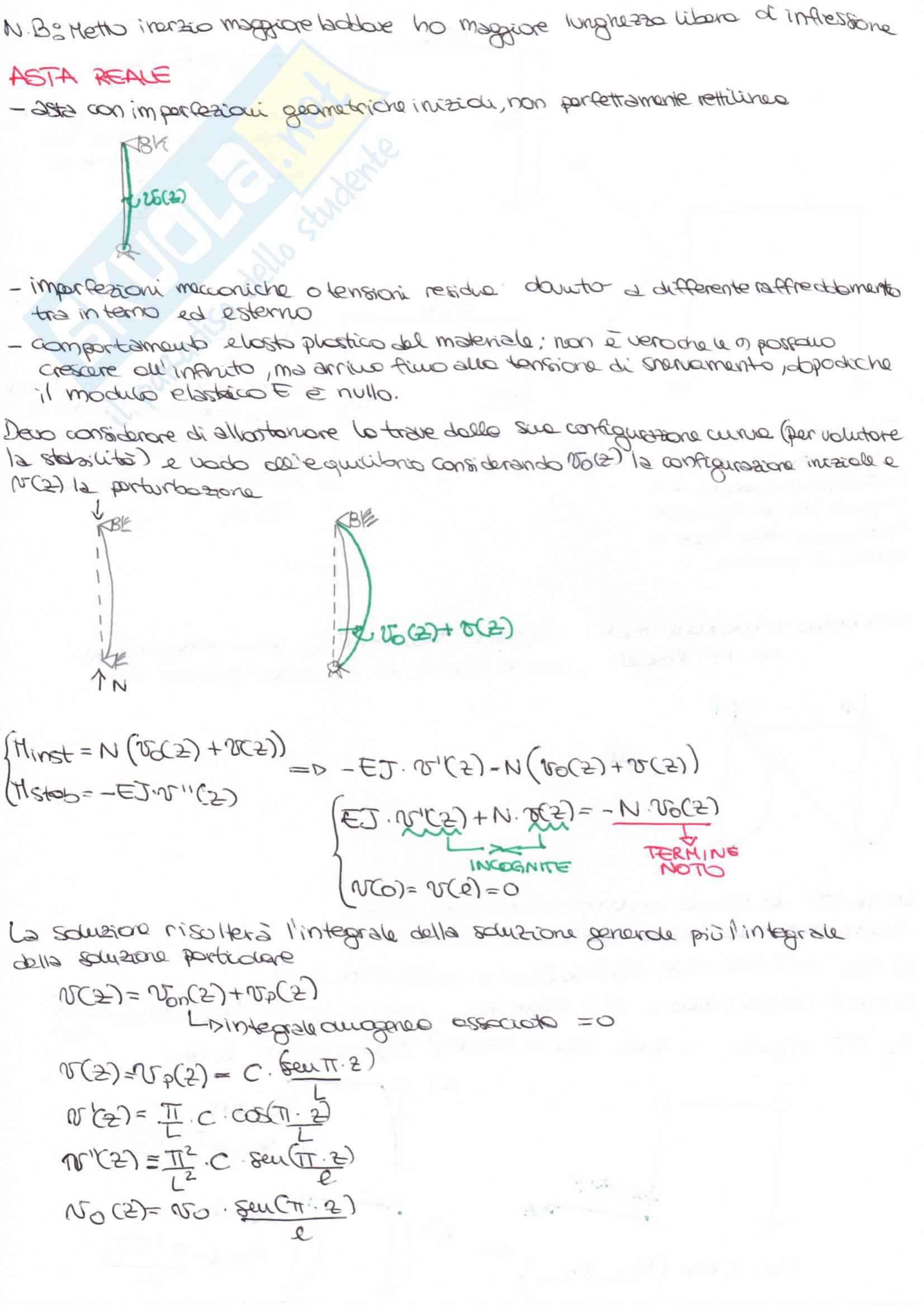 Tecnica delle costruzioni, Strutture in Acciaio Metodo T.A e Semiprobabilistico agli stati limite Pag. 41