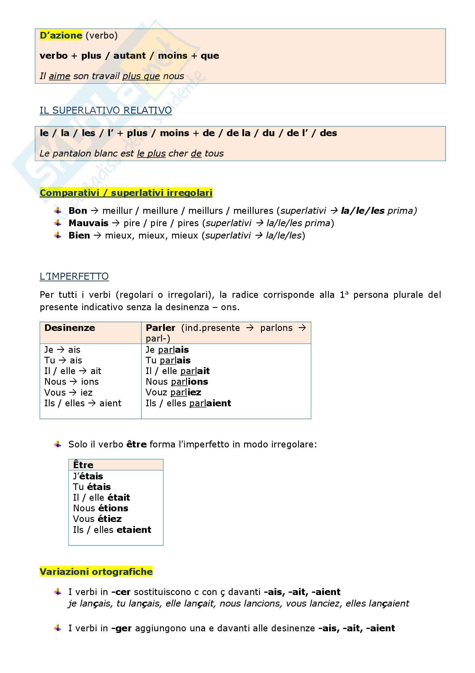 Riassunto esame di grammatica francese, prof.ssa Arnaud Pag. 26