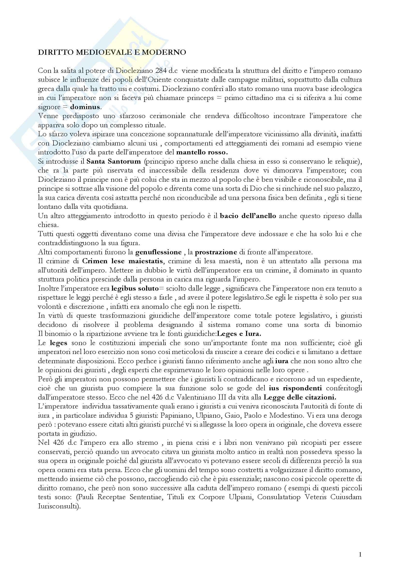 appunto G. Errera Storia del diritto medievale e moderno