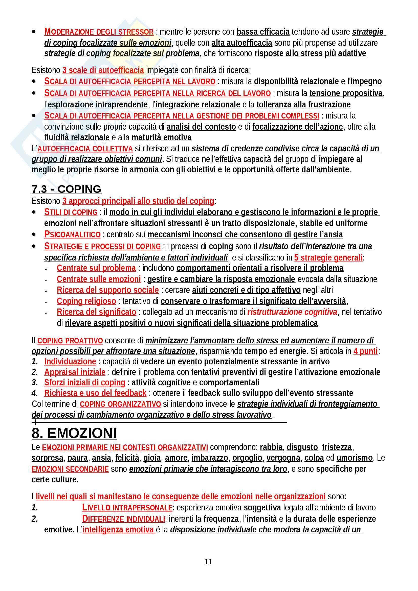 """Riassunto esame Psicologia del Lavoro, prof. Alessandri, libro consigliato """"Psicologia del lavoro e delle organizzazioni"""", Avallone Pag. 11"""