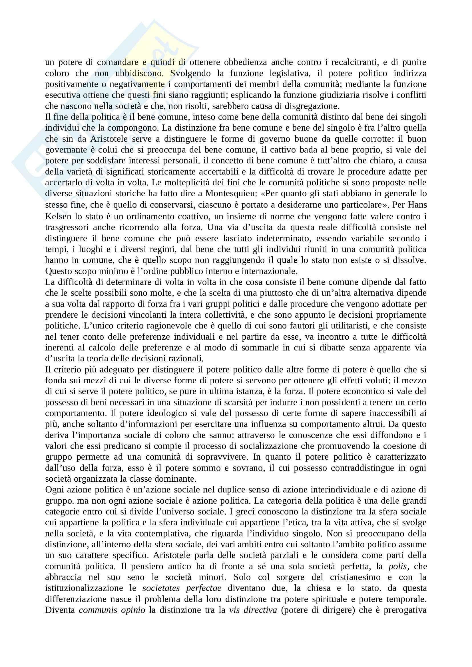 Riassunto esame Teoria Politica, prof. Cotta, libro consigliato Elementi di Politica di Bobbio Pag. 2