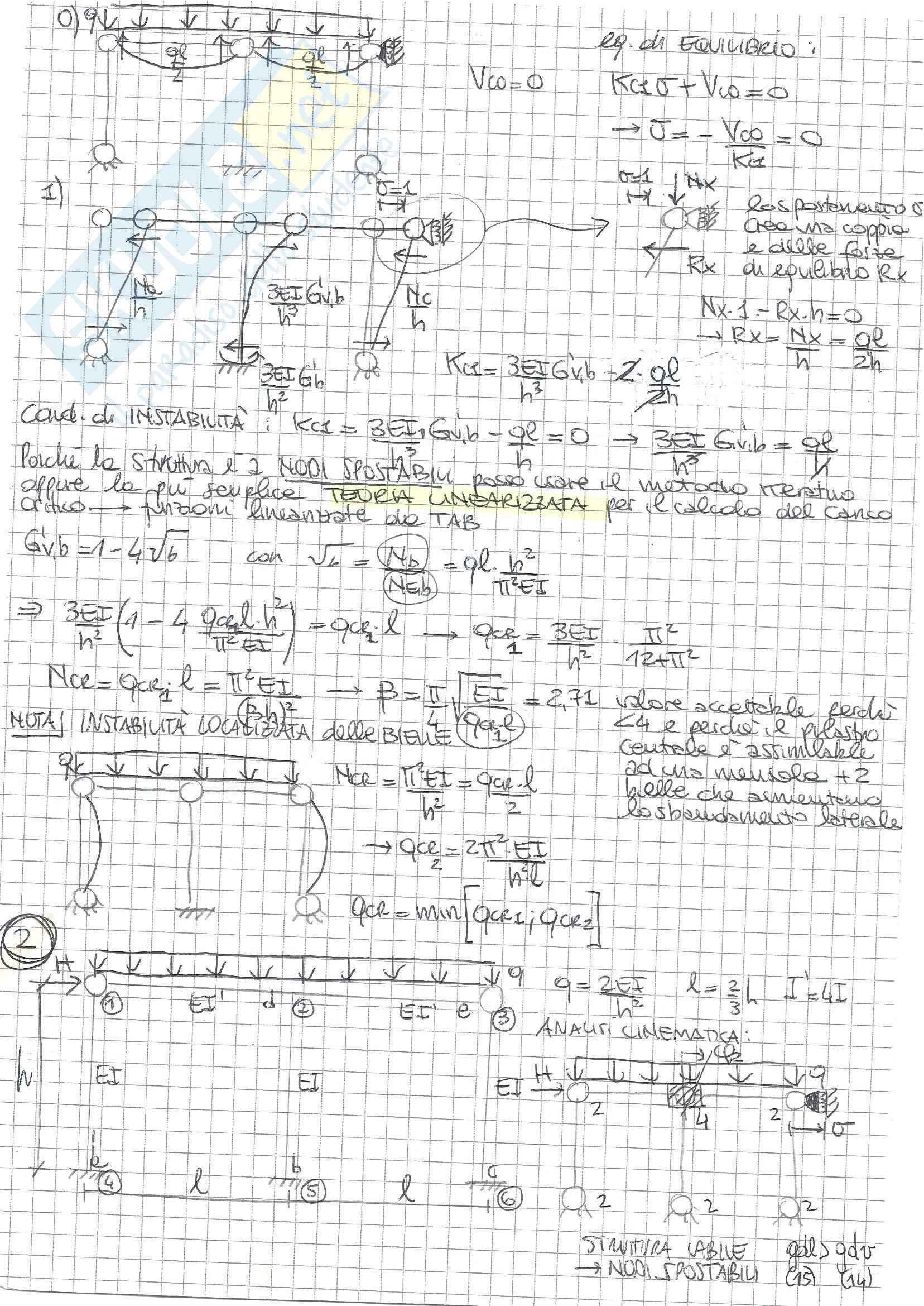 Tecnica delle Costruzioni II - Esercizi A Pag. 6