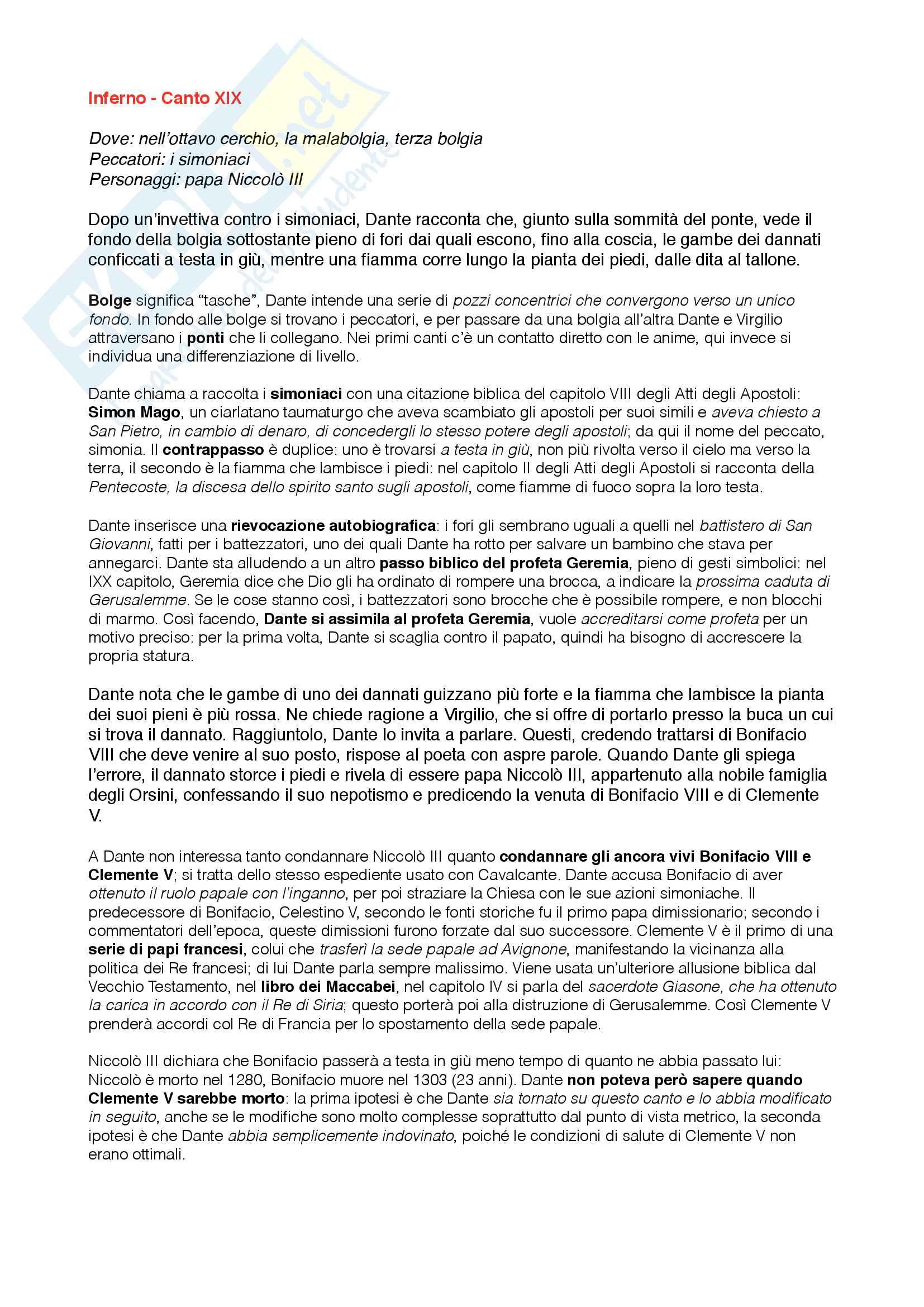 """Riassunto esame Letteratura Italiana, prof. Santagata e Pacca, libro adottato """"La Divina Commedia"""" di Dante Alighieri, edizione commentata Bosco, Reggio, Volante Pag. 16"""