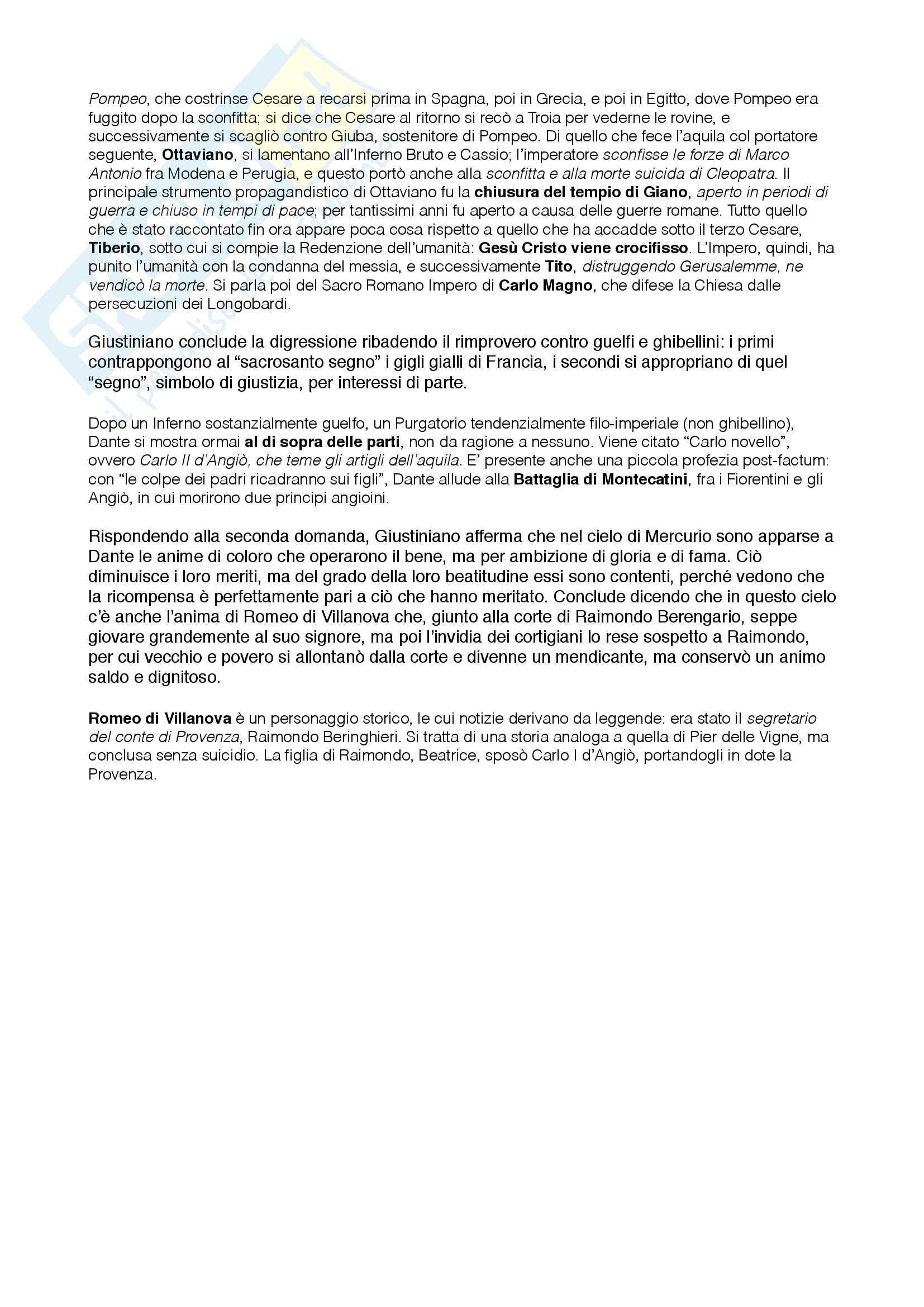 """Riassunto esame Letteratura Italiana, prof. Santagata e Pacca, libro adottato """"La Divina Commedia"""" di Dante Alighieri, edizione commentata Bosco, Reggio, Volante Pag. 46"""