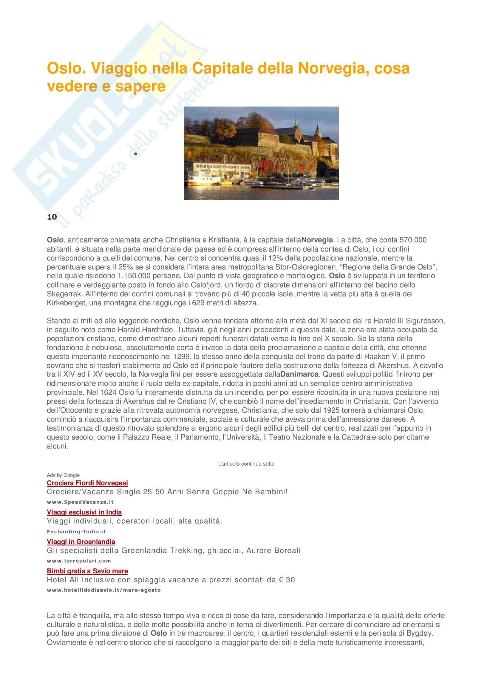 Pragmatica - Oslo - Appunti