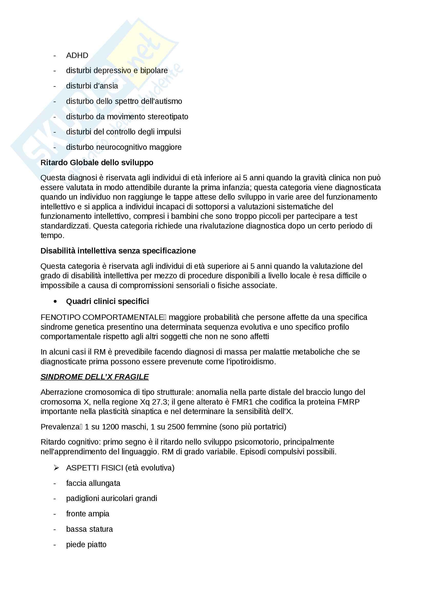 neuropsichiatria infantile Pag. 11