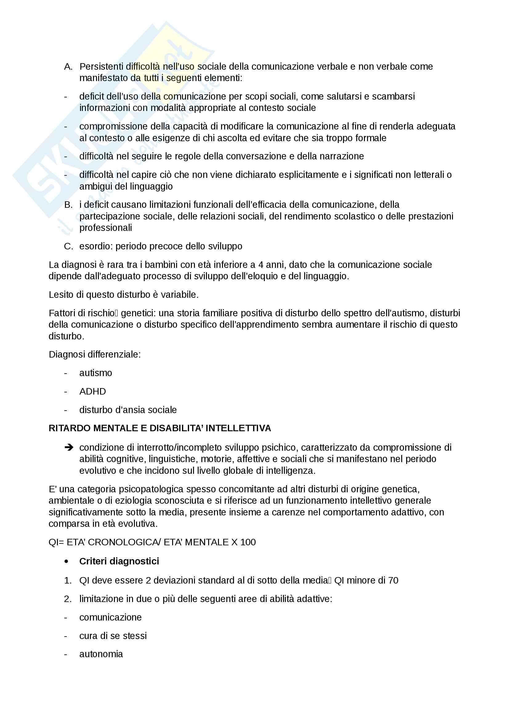 neuropsichiatria infantile Pag. 6