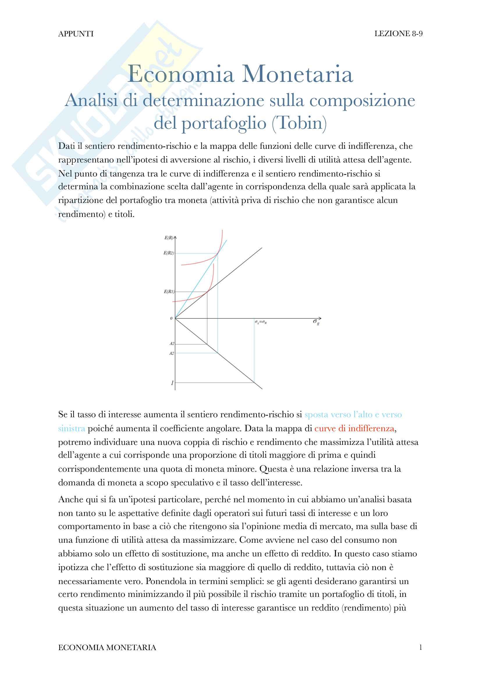 appunto E. Levrero Economia monetaria