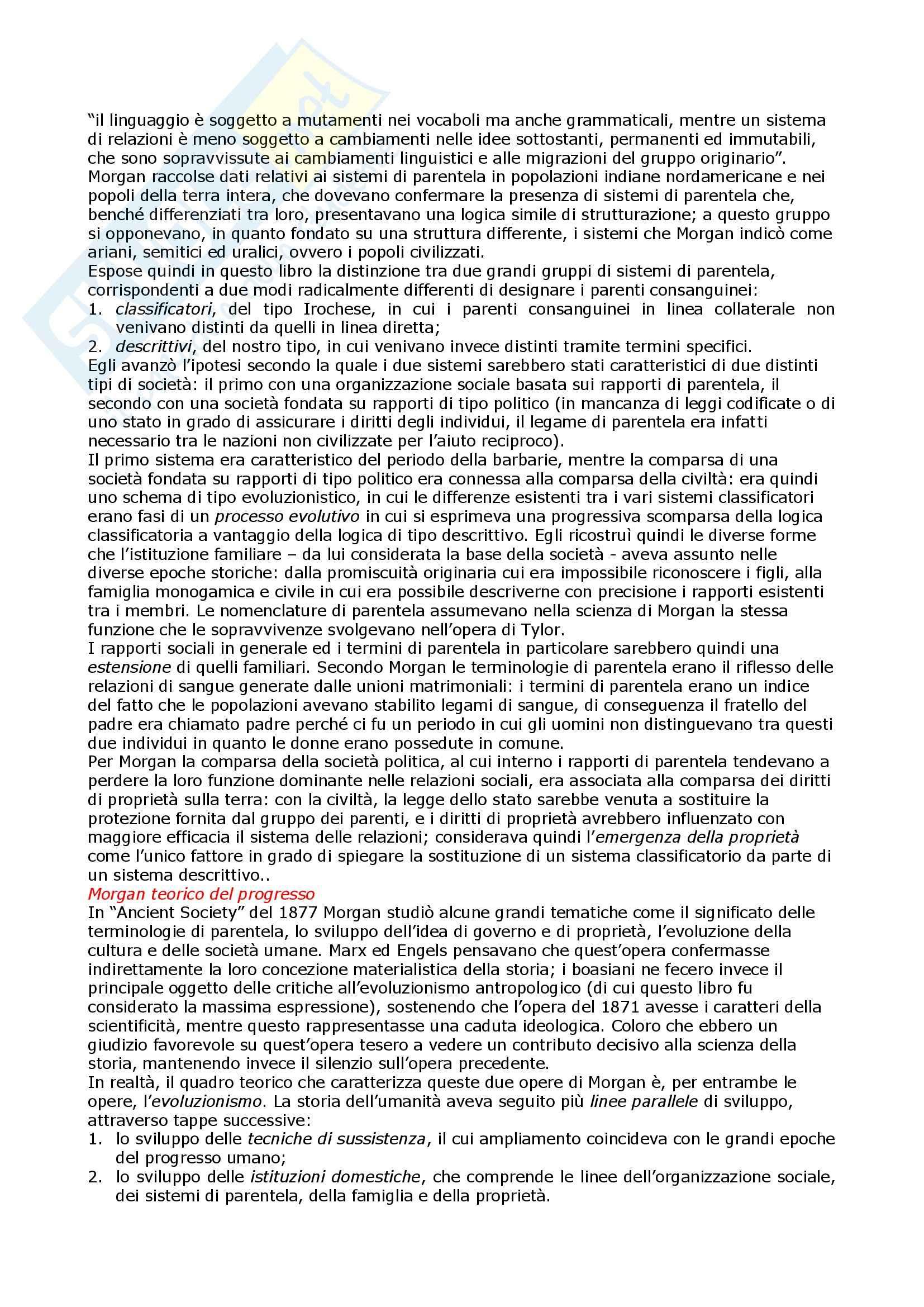 Storia dell'antropologia - Appunti Pag. 6