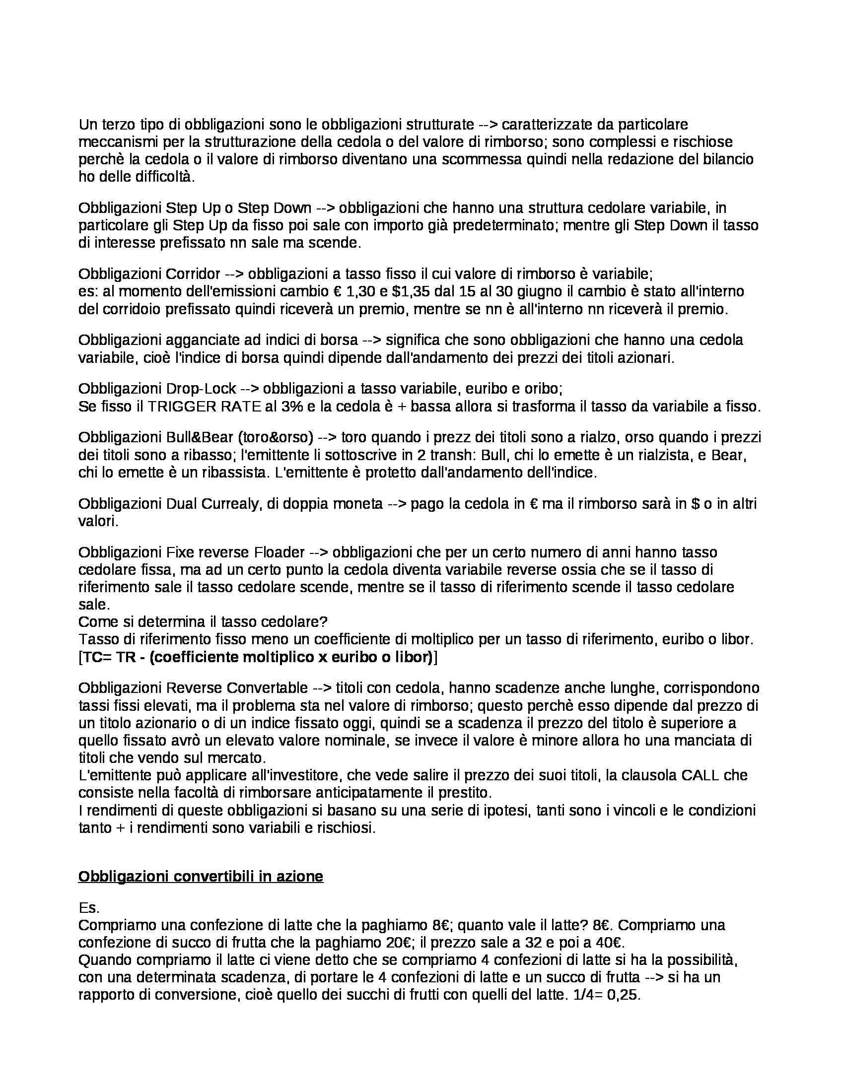 Economia degli intermediari finanziari - domande Pag. 21