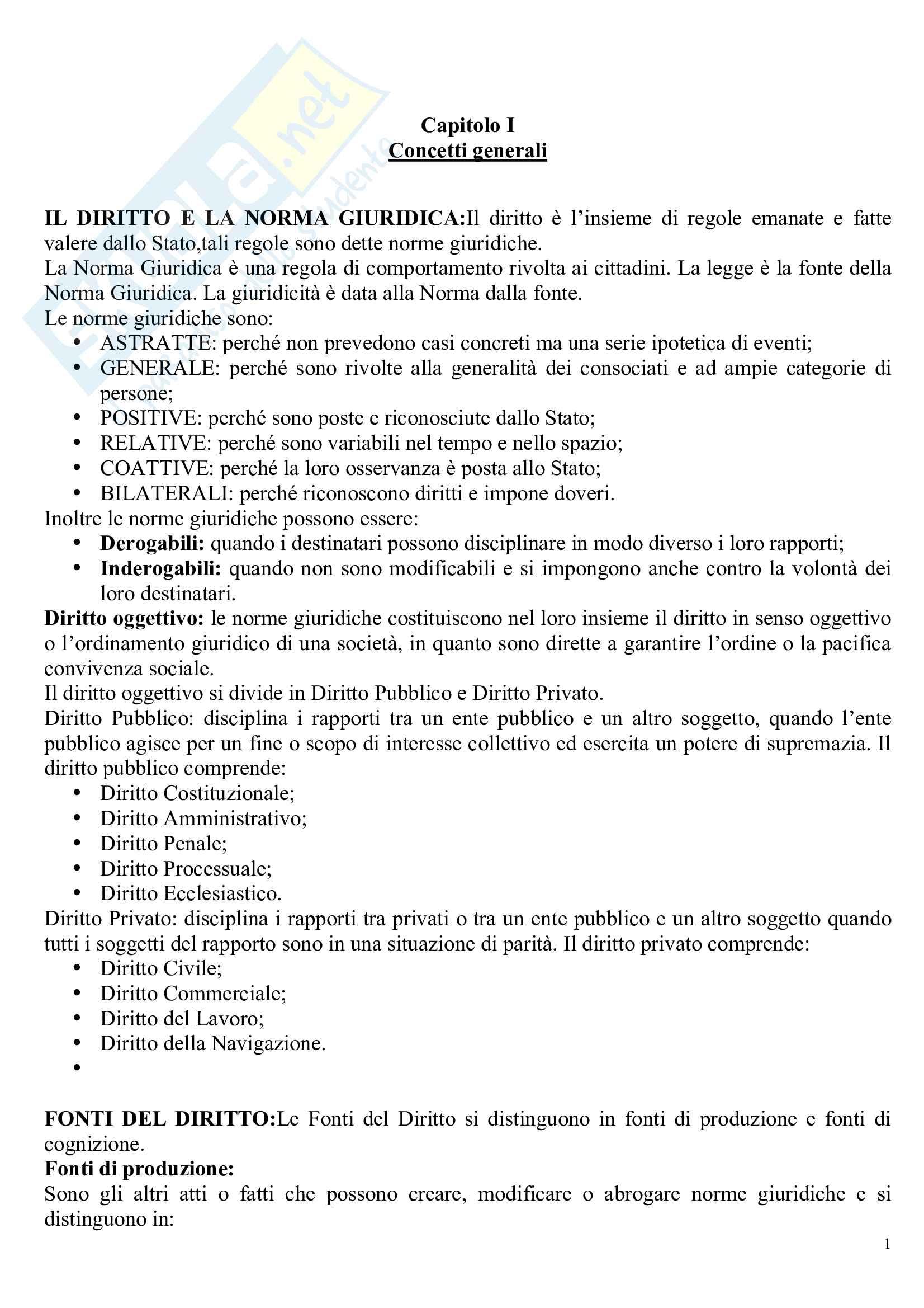 Riassunto esame Diritto, prof. Massera, libro consigliato Istituzioni di Diritto amministrativo, Cassese Pag. 1