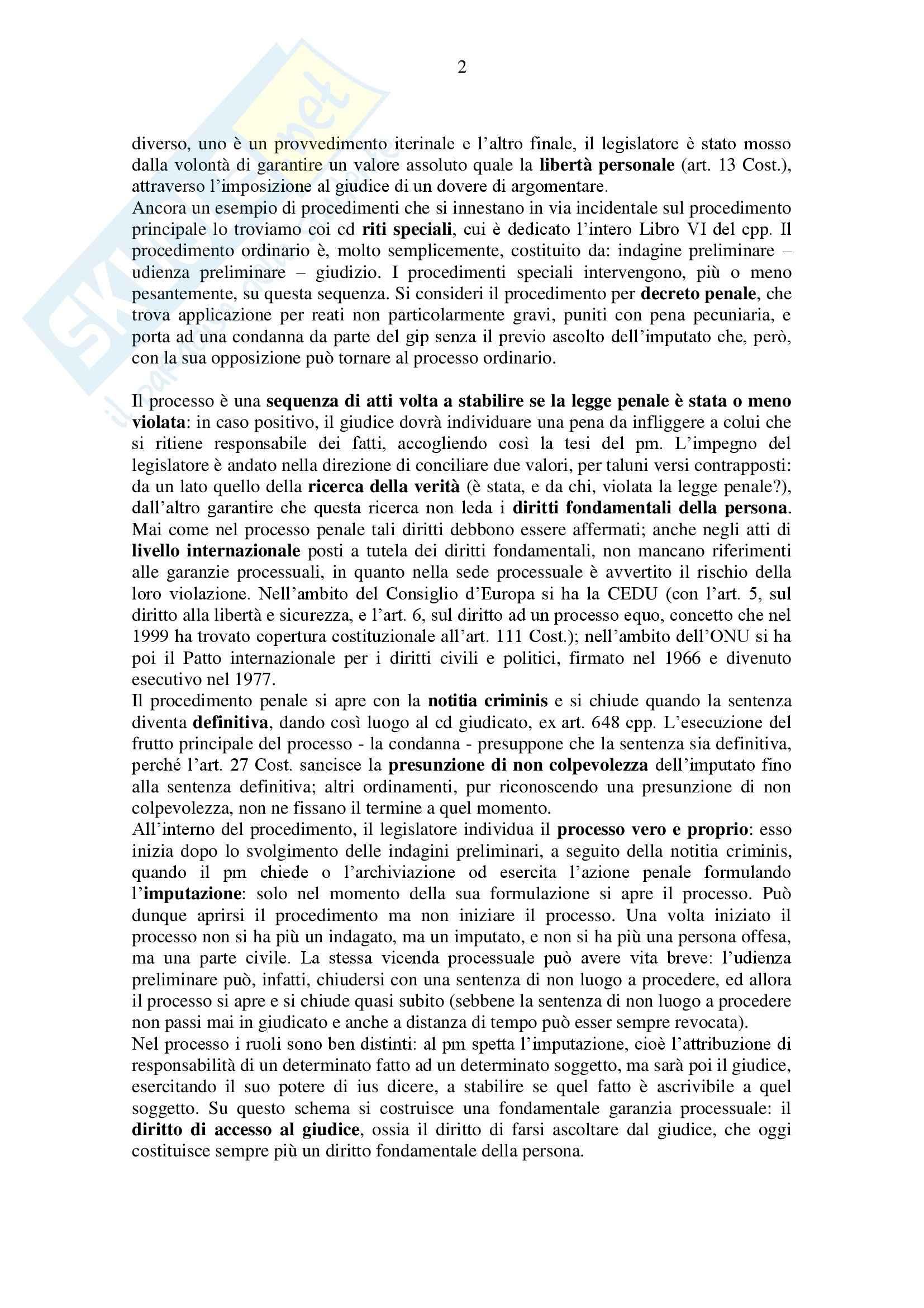 Procedura penale - Appunti Pag. 2