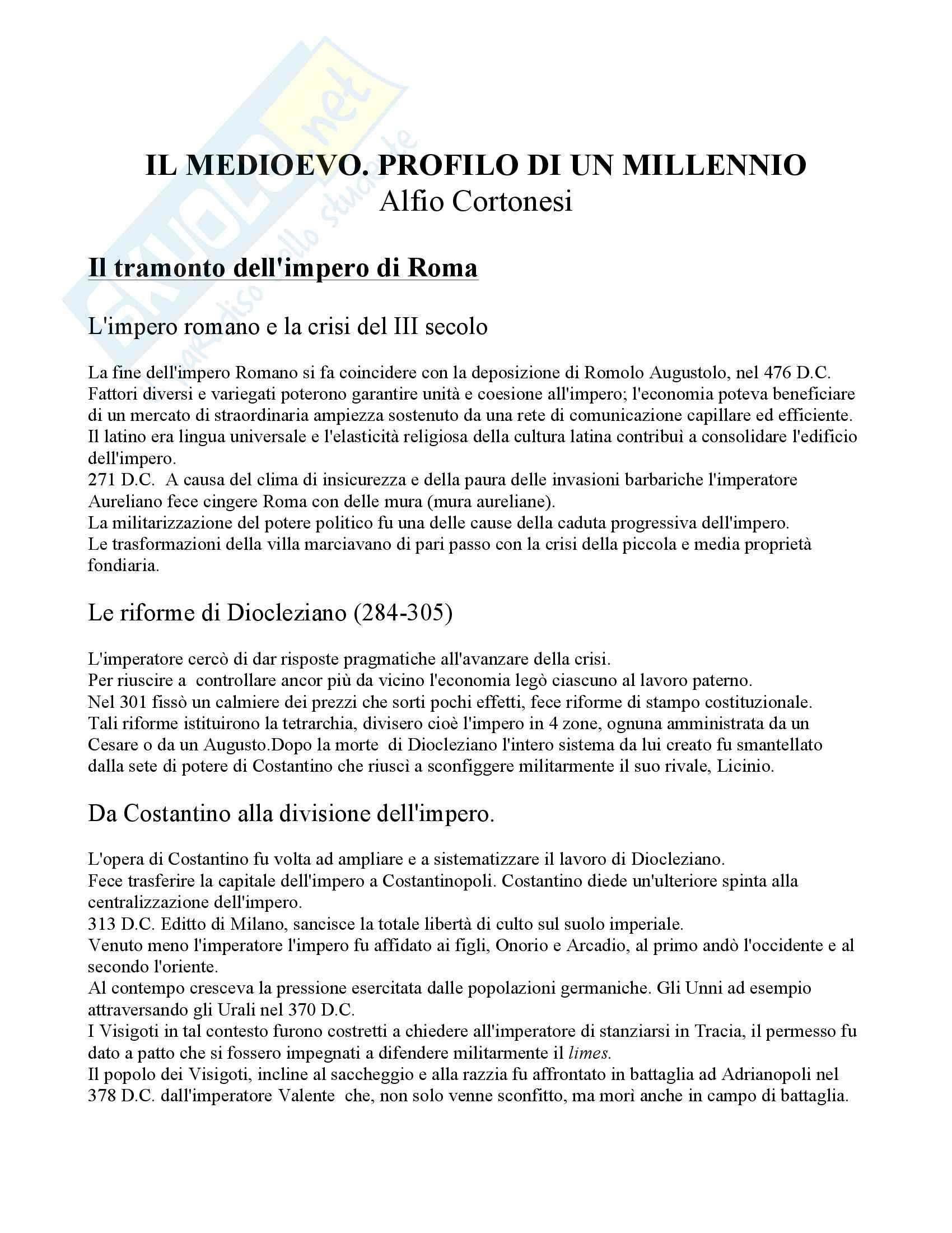 appunto A. Zorzi Storia medievale