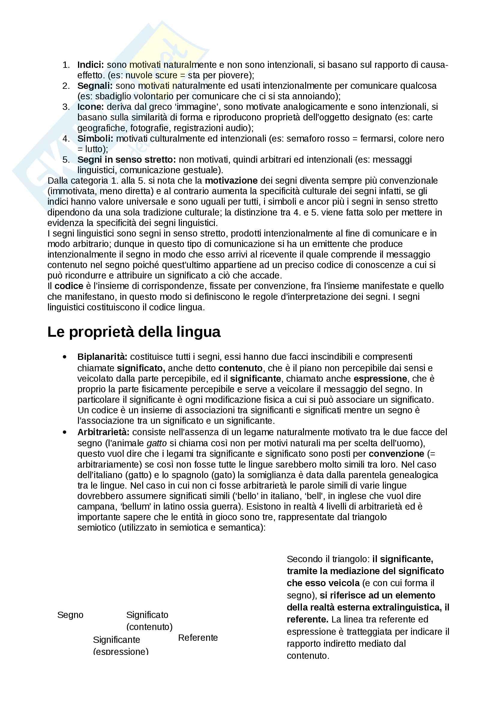 Riassunto esame linguistica, docente Benvenuto, libro consigliato La linguistica, Berruto Cerruti Pag. 2