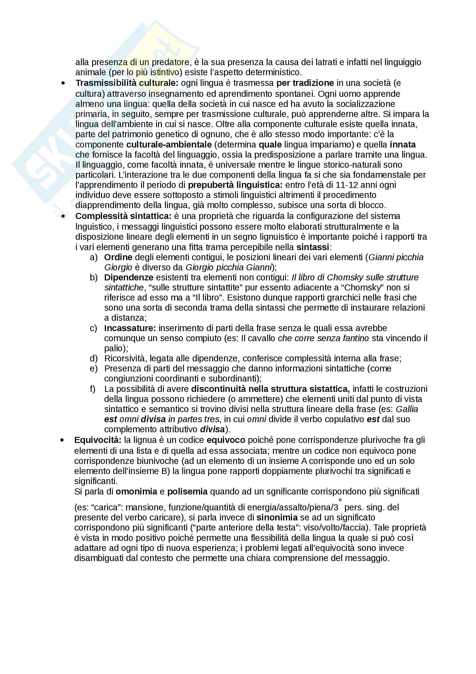 Riassunto esame linguistica, docente Benvenuto, libro consigliato La linguistica, Berruto Cerruti Pag. 6