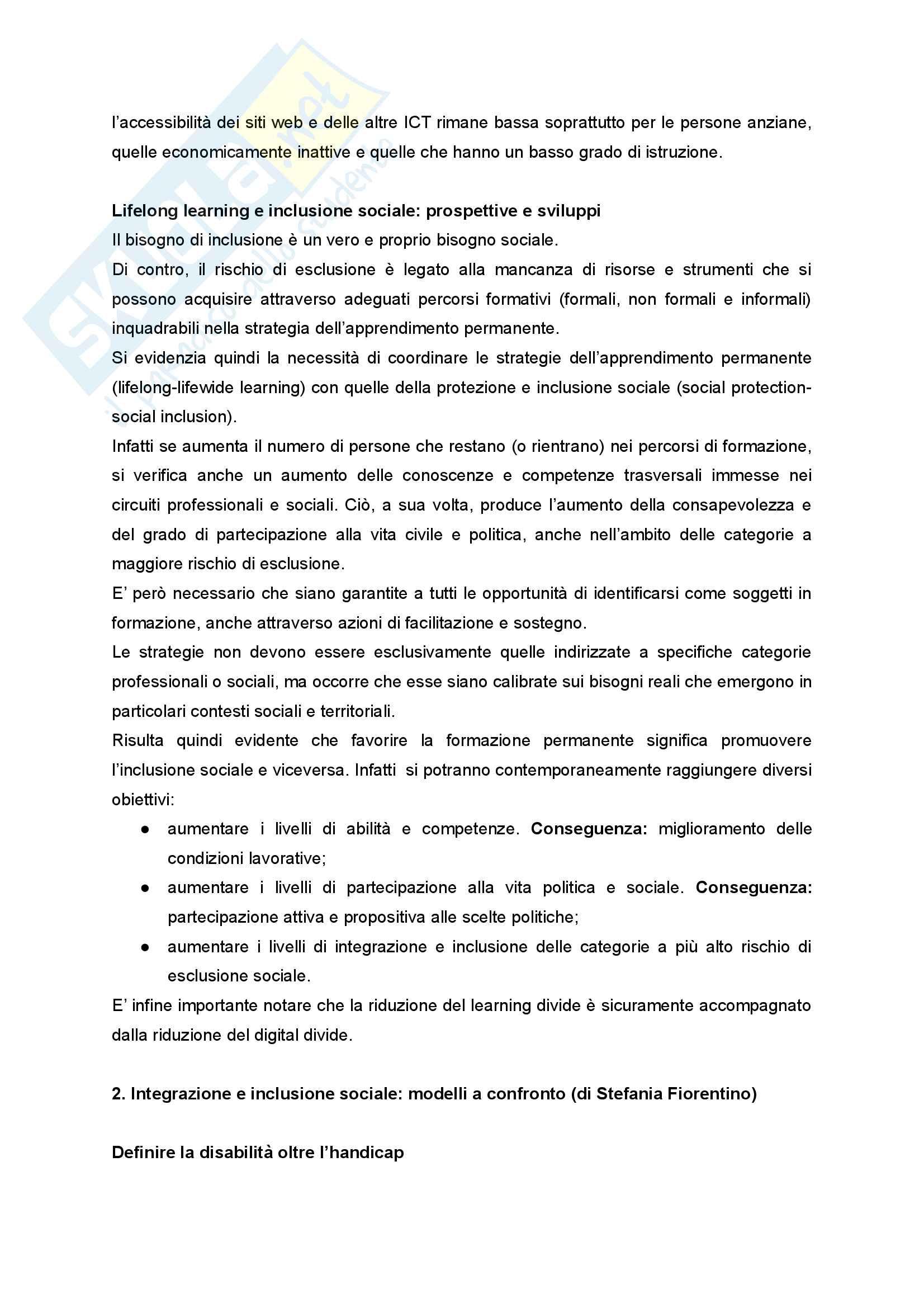 """Sunto di Didattica e Pedagogia dell'inclusione, prof.ssa Cristina Palmieri, libro consigliato """"Pratiche educative per l'inclusione sociale"""" a cura di Maura Striano Pag. 6"""