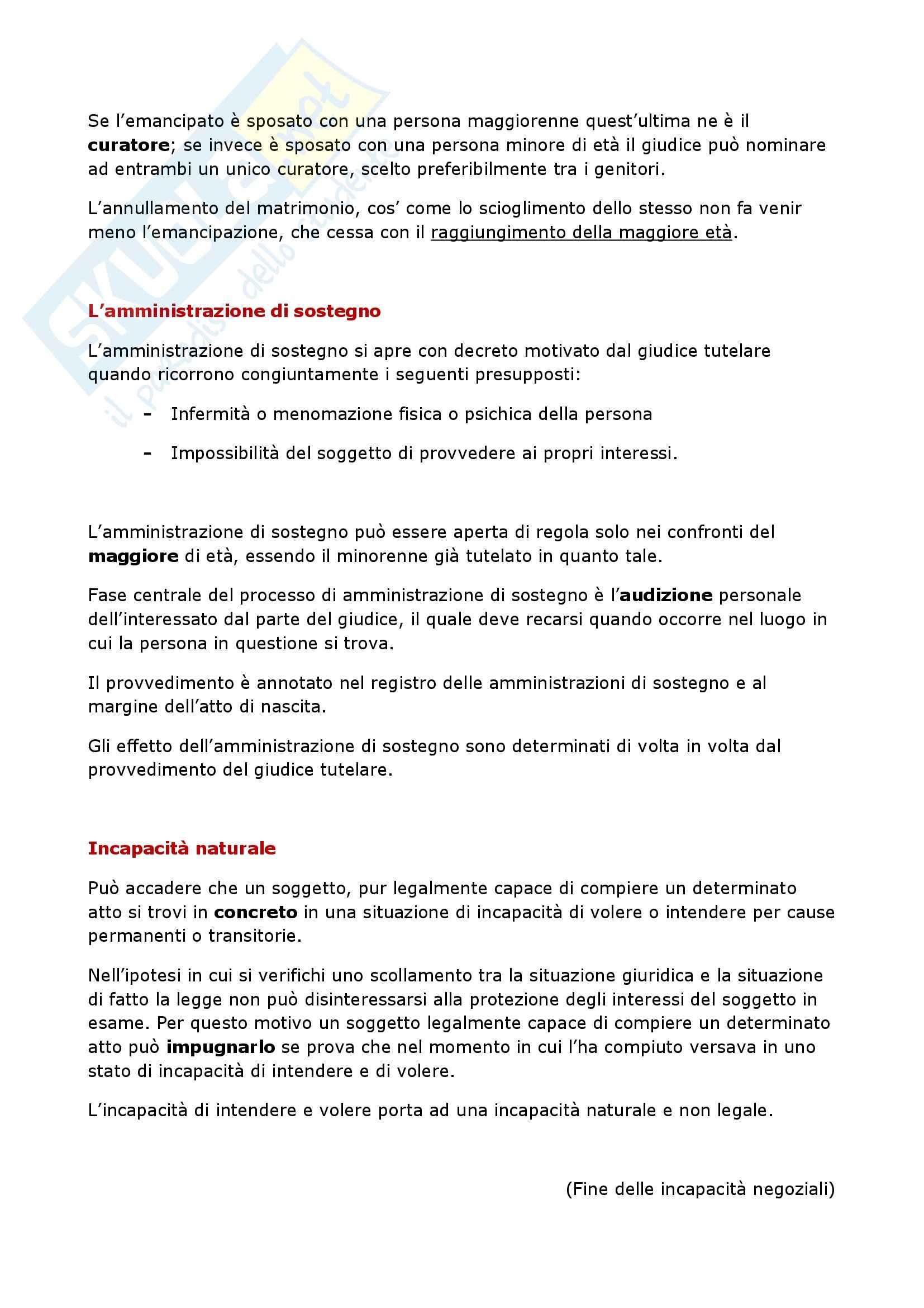 Riassunto esame Manuale di Diritto Privato, Torrente, Schlesinger, prof. Stefini Pag. 26