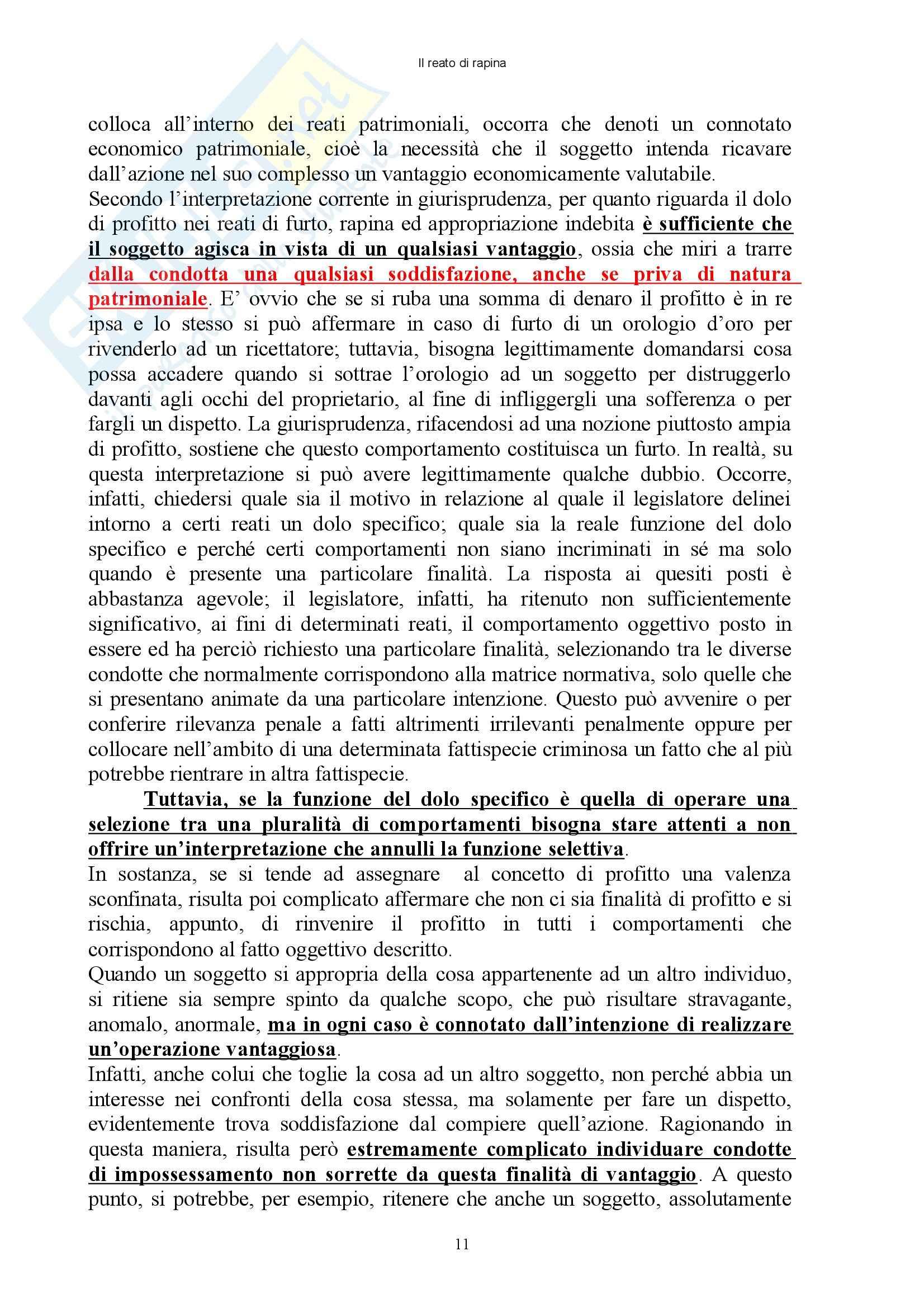 Diritto penale - reati contro il patrimonio - Appunti Pag. 11