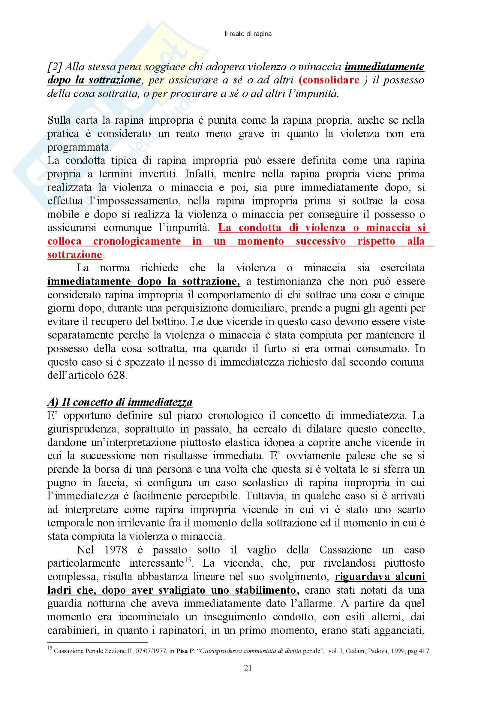 Diritto penale - reati contro il patrimonio - Appunti Pag. 21