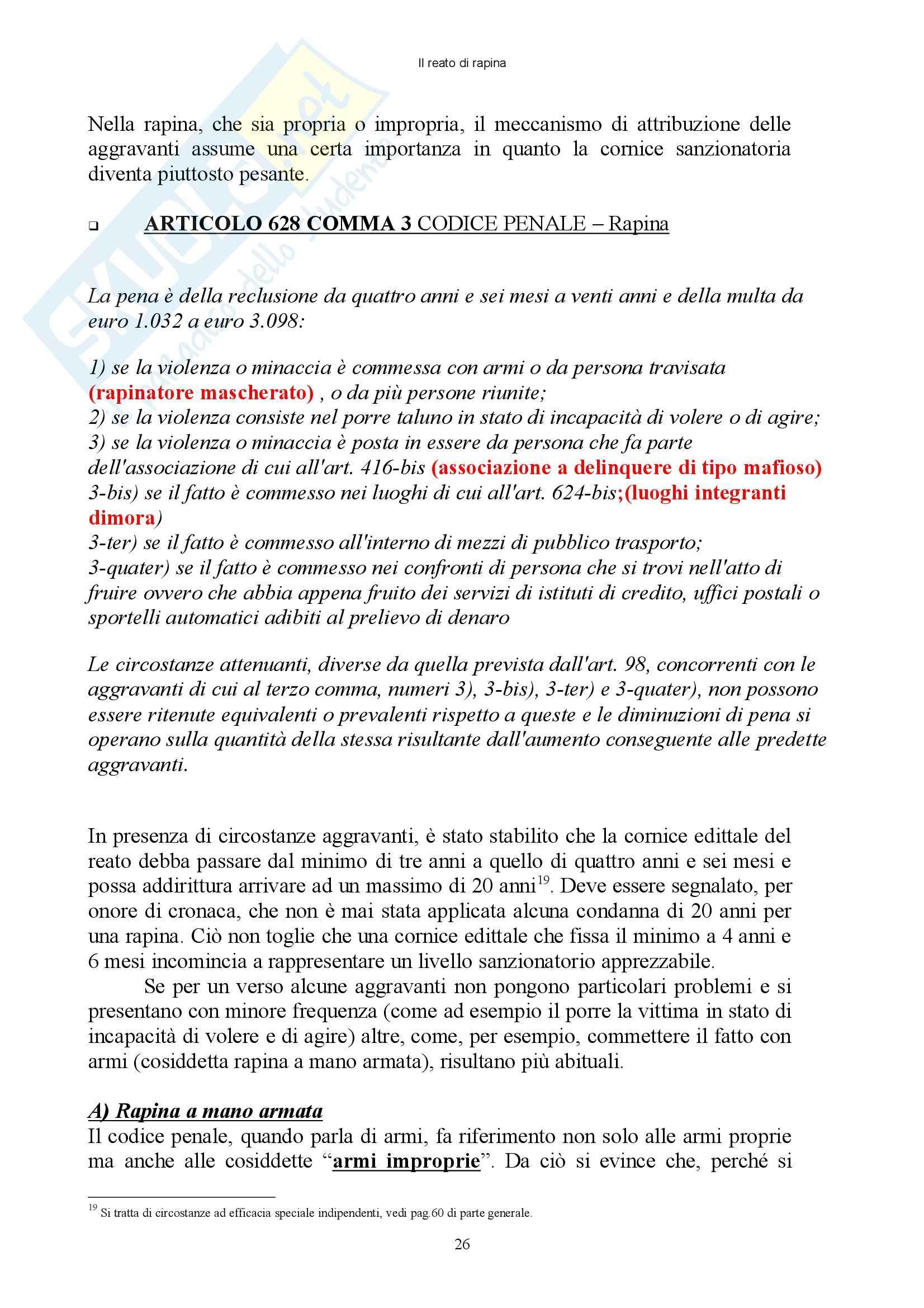 Diritto penale - reati contro il patrimonio - Appunti Pag. 26