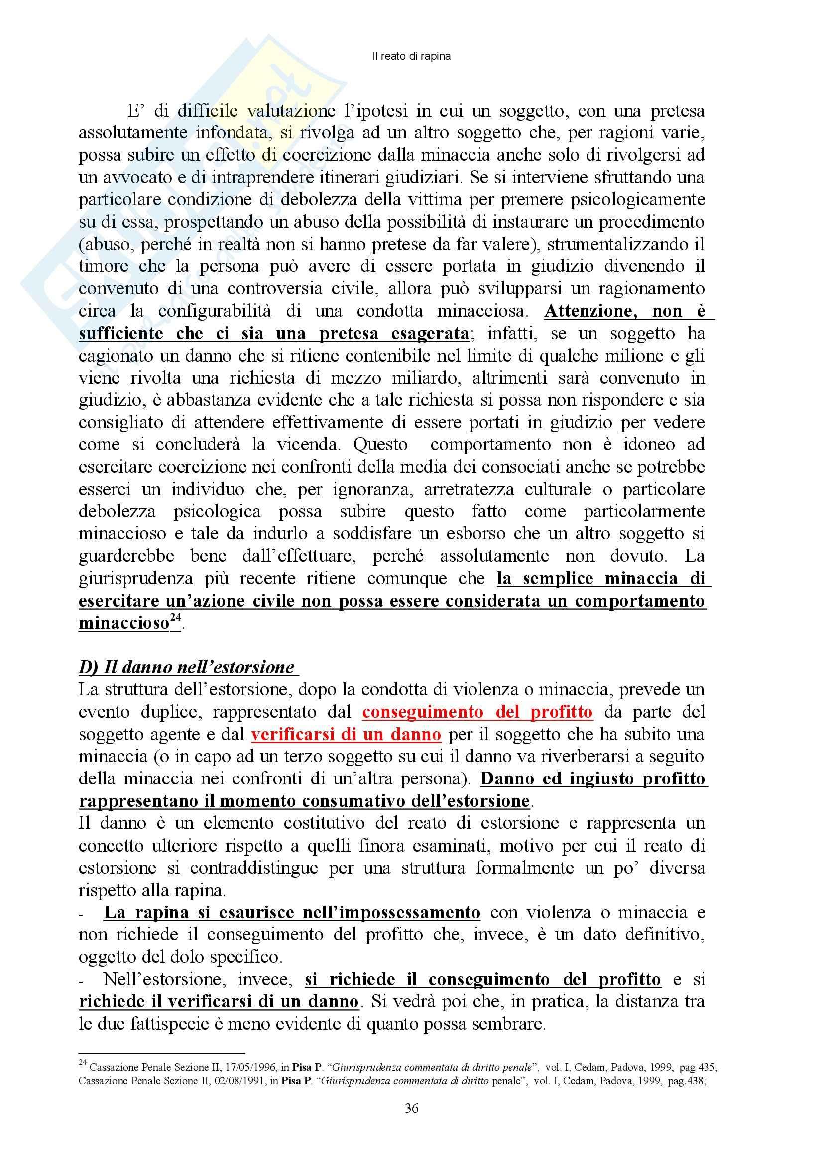 Diritto penale - reati contro il patrimonio - Appunti Pag. 36