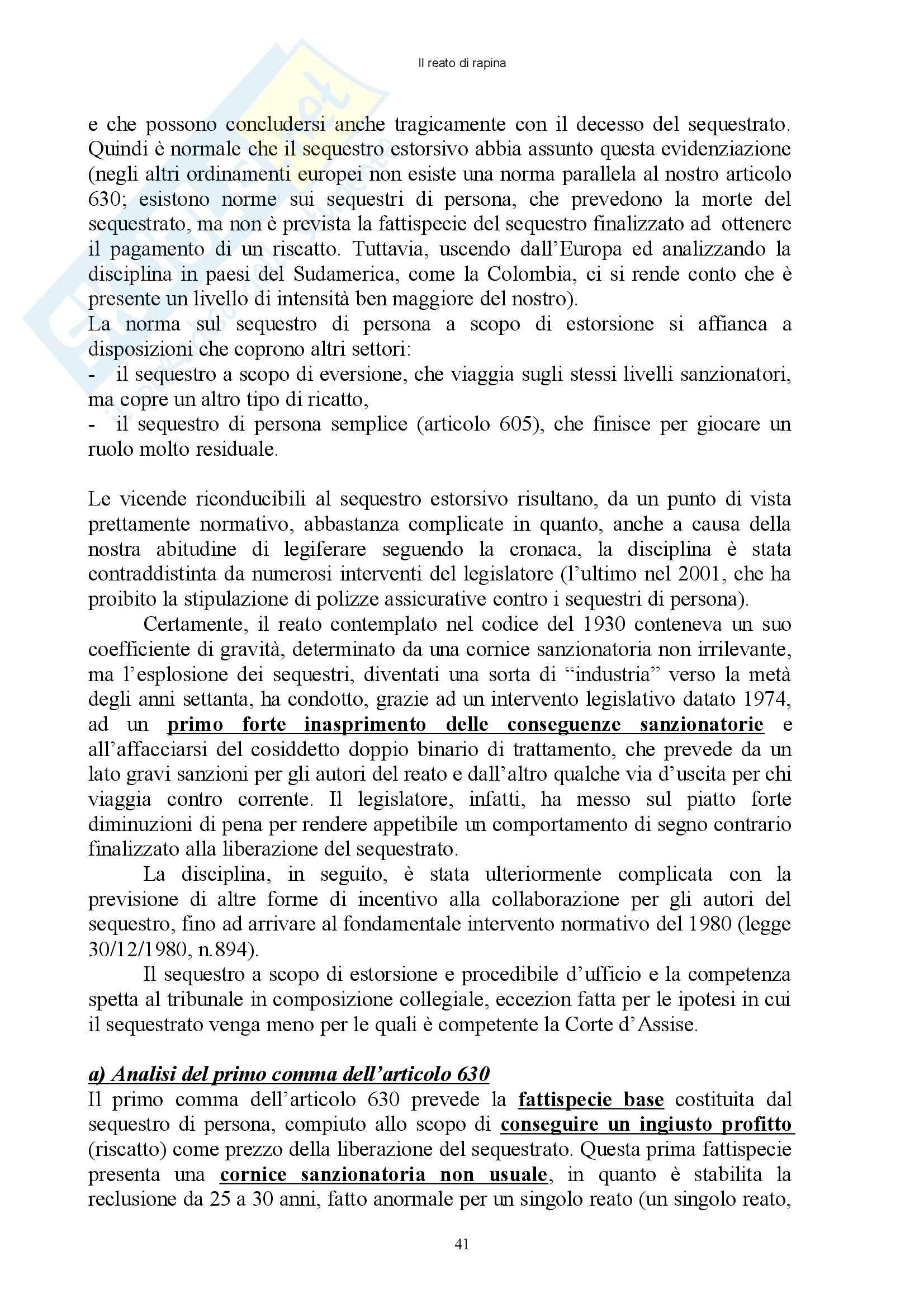 Diritto penale - reati contro il patrimonio - Appunti Pag. 41