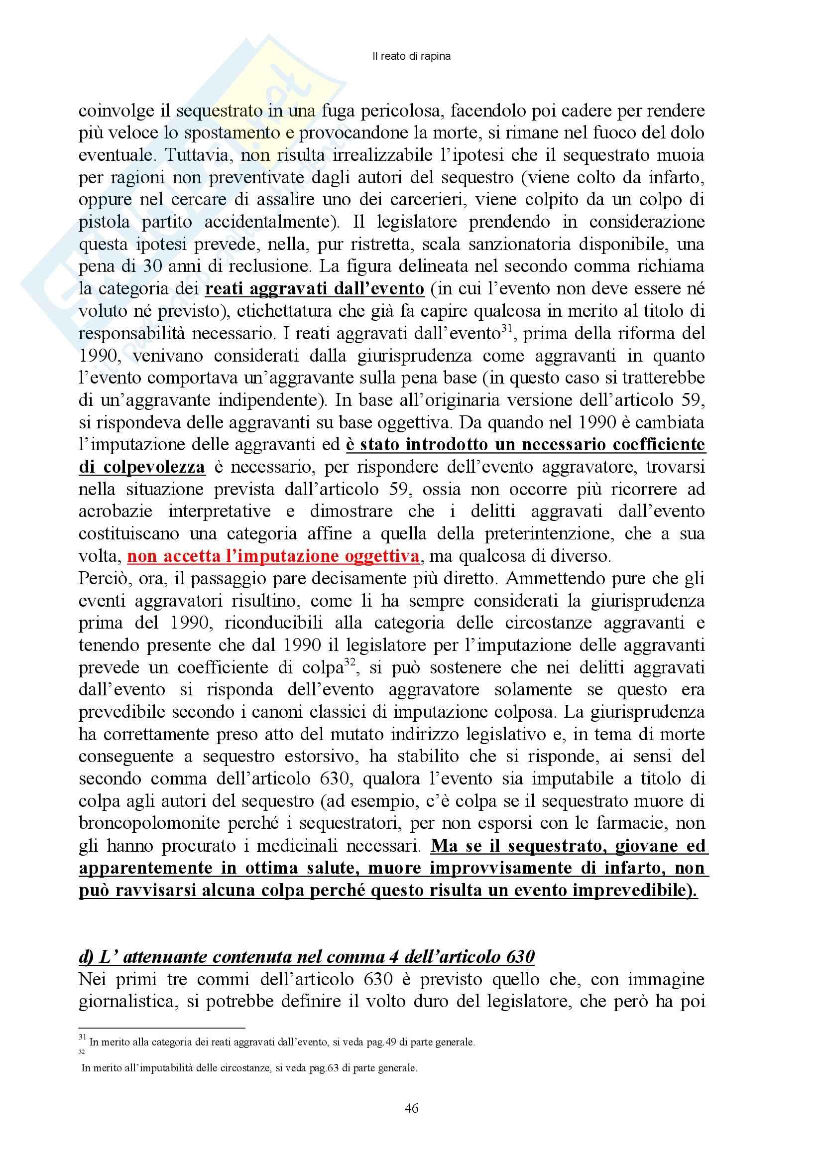 Diritto penale - reati contro il patrimonio - Appunti Pag. 46