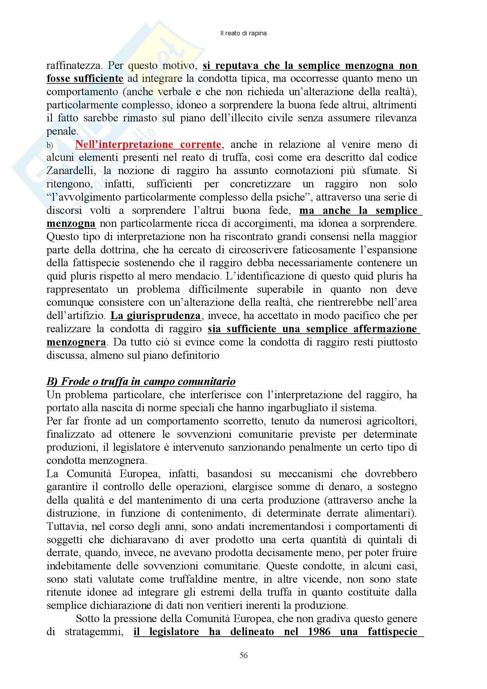Diritto penale - reati contro il patrimonio - Appunti Pag. 56