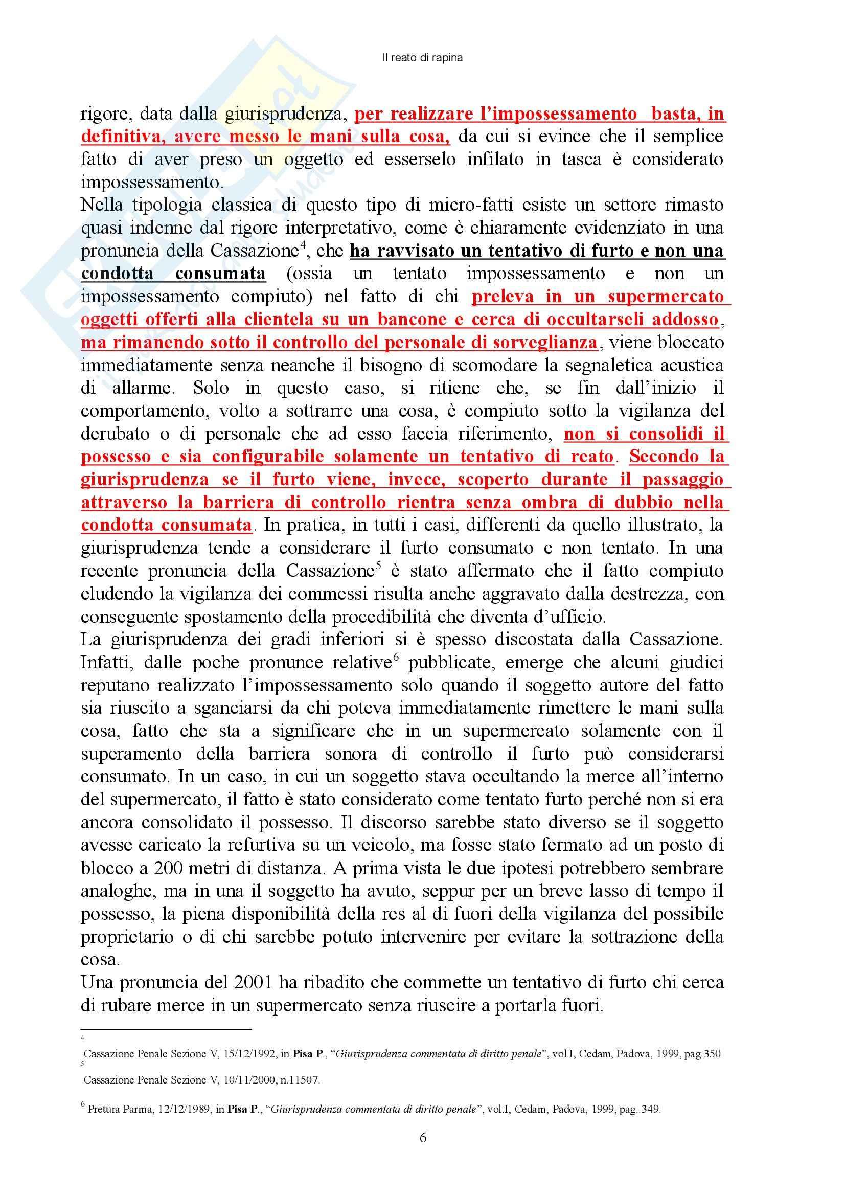 Diritto penale - reati contro il patrimonio - Appunti Pag. 6