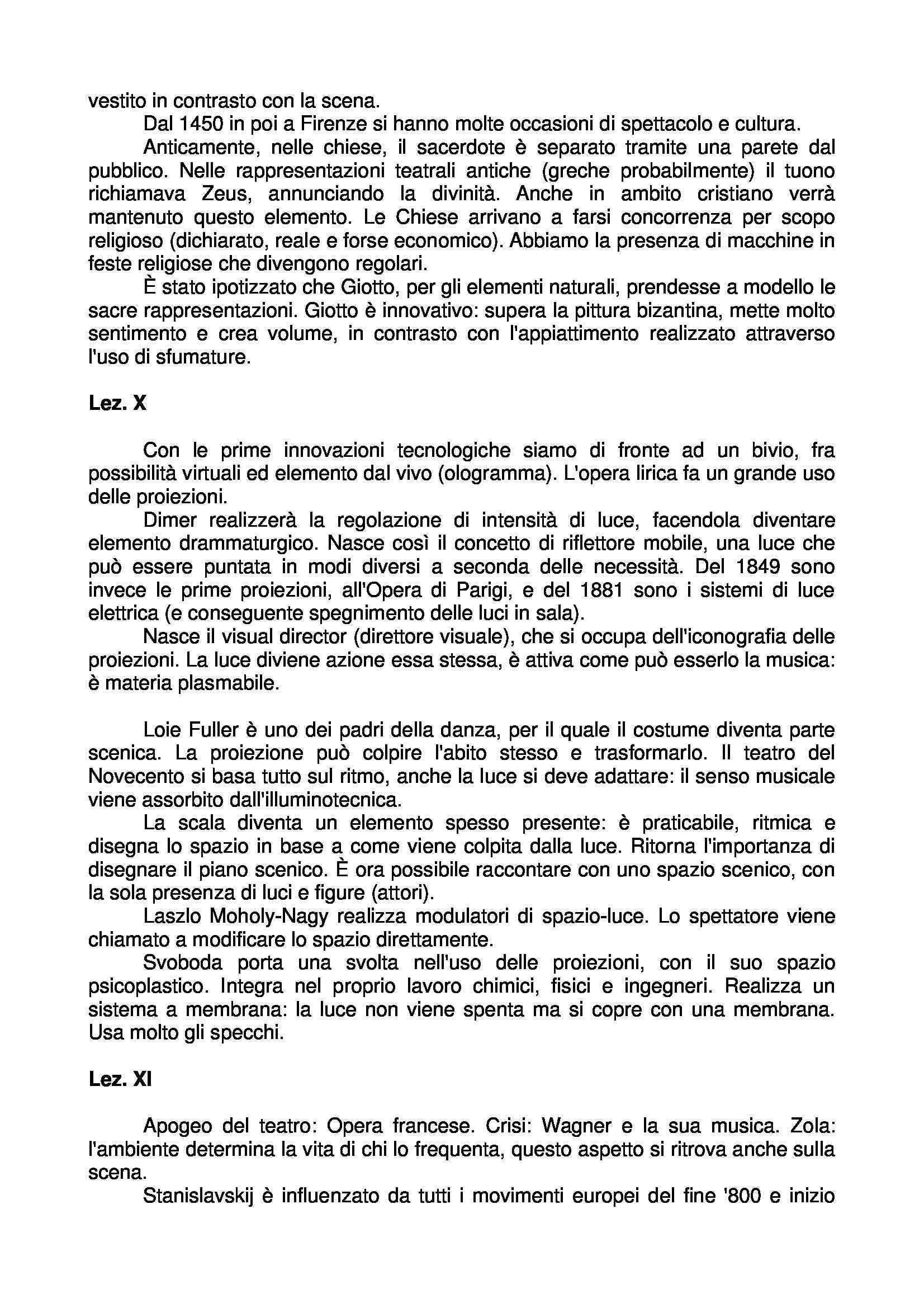 Scenografia: Elementi, Teoria, Storia - Appunti Pag. 6