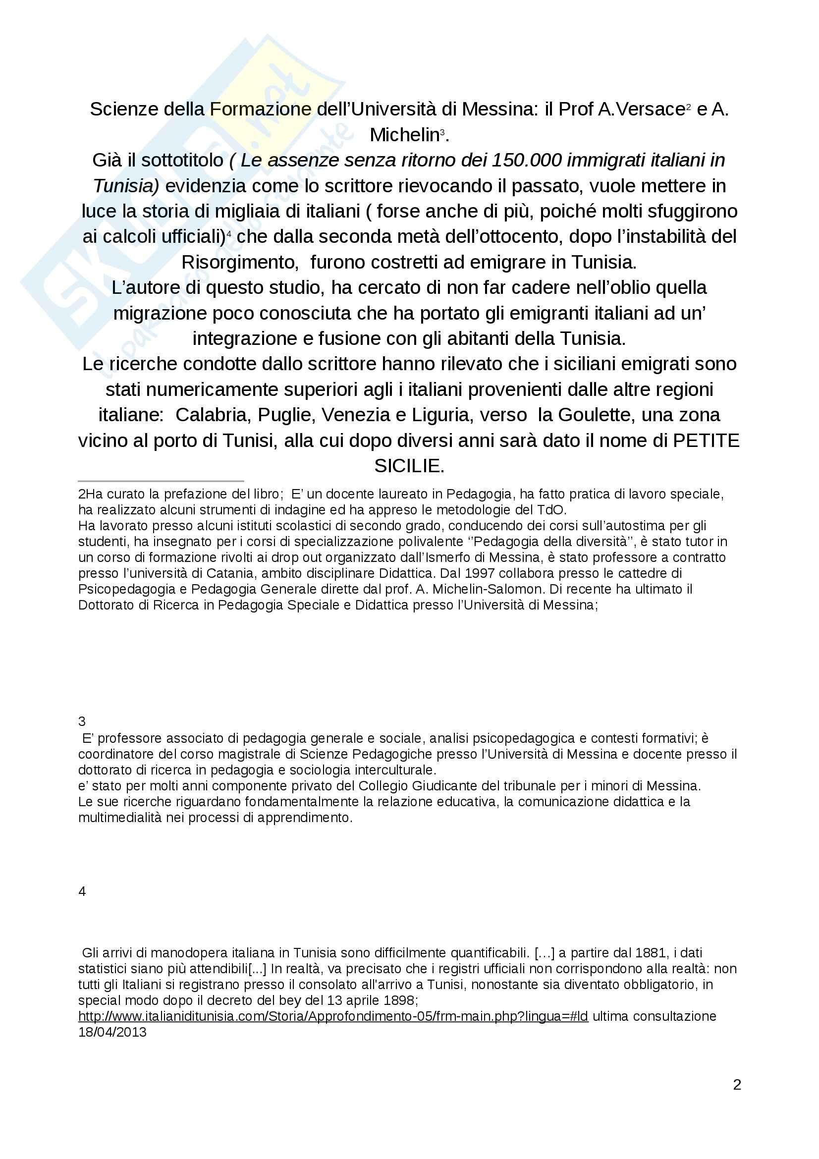 Riassunto esame Analisi contesti formativi, prof. Versace, libro consigliato Appuntamento alla Goulette, Versace, Baldi Pag. 2