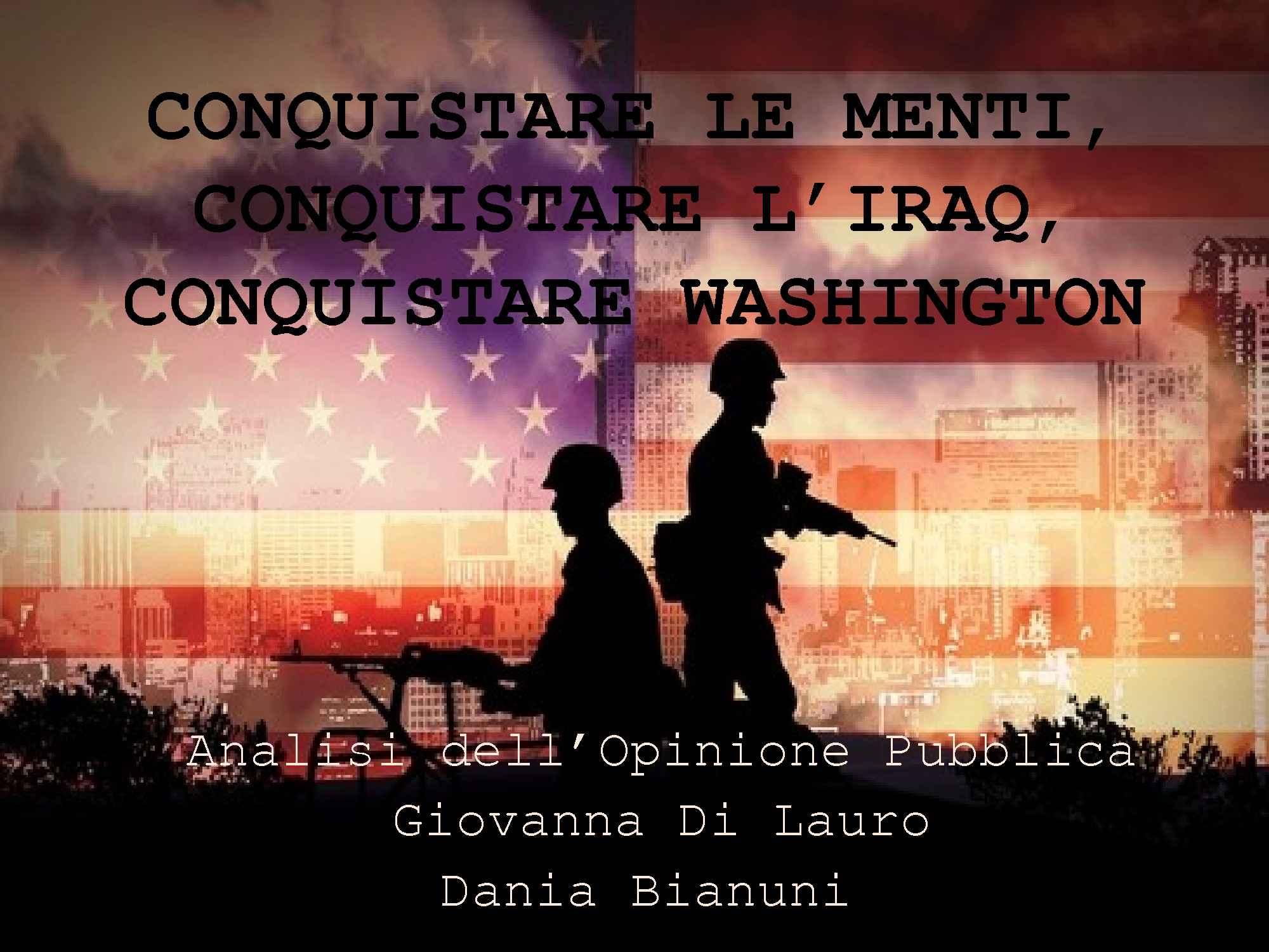 Conquistare le menti, conquistare l'Iraq - Di Lauro, Bianuni